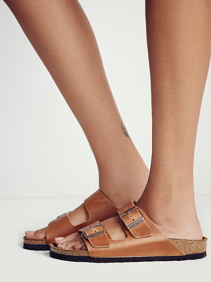 Free People Arizona Birkenstock In Brown Lyst