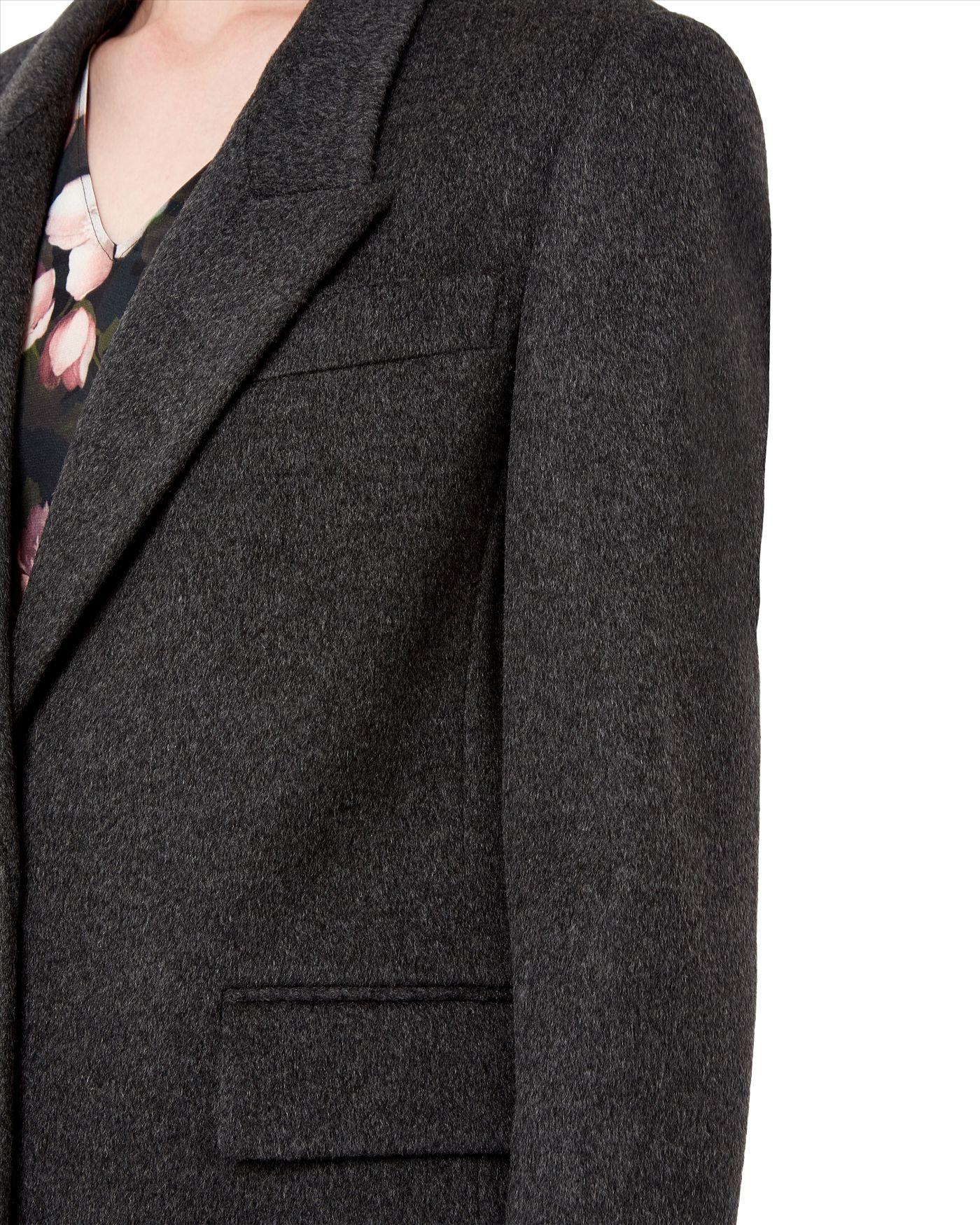 Jaeger Wool Cashmere Boyfriend Coat in Gray | Lyst