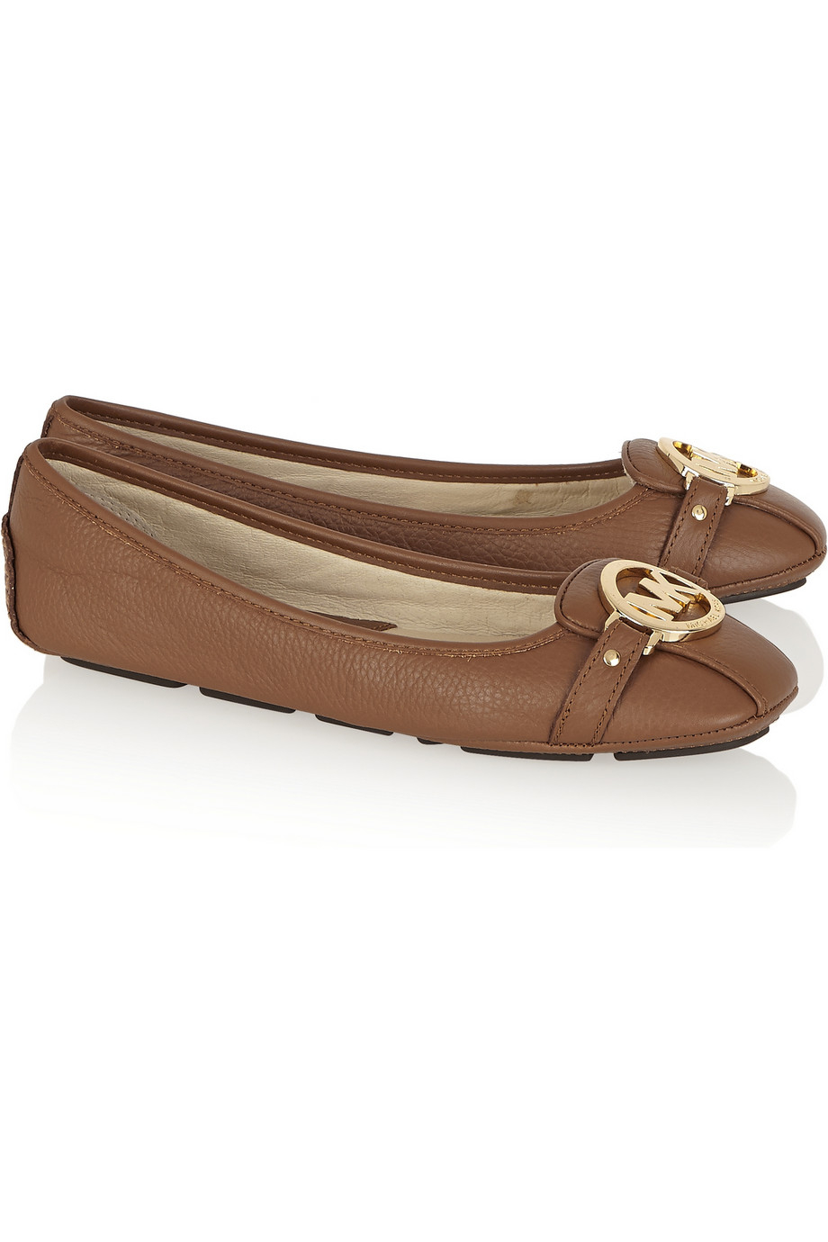 Michael Michael Kors Fulton Textured Leather Ballet Flats