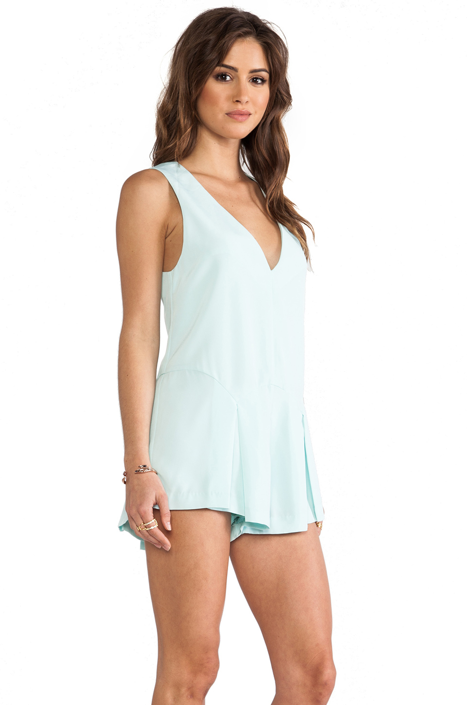 f146fd1b5ab Lyst - Finders Keepers Here Comes The Sun Playsuit in Blue