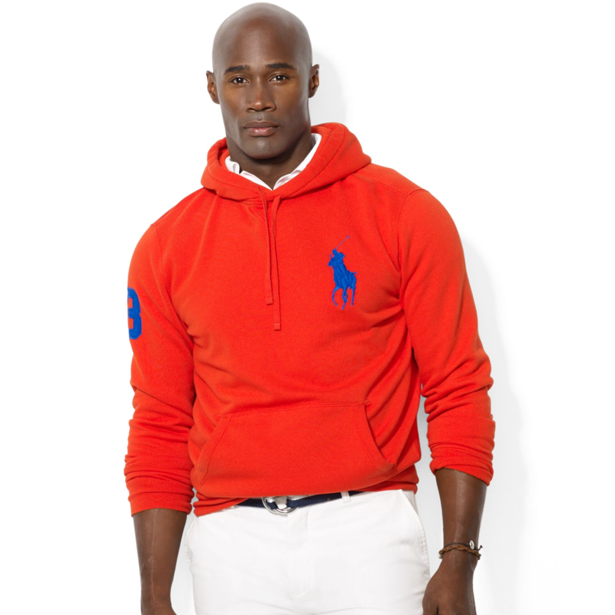 Ralph lauren Polo Big and Tall Big Pony Beach Fleece Pullover Hoodie in Red for Men (Bright Poppy) | Lyst