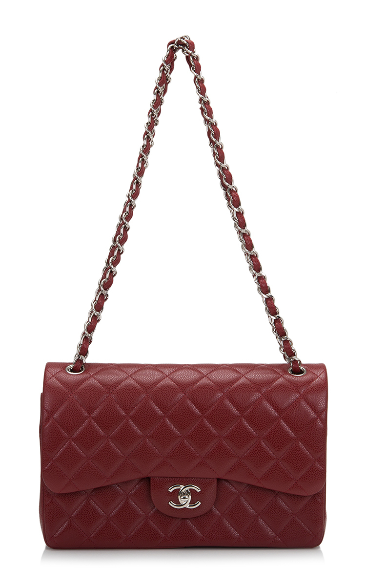 917475ee6f82 Madison Avenue Couture Chanel Dark Red Quilted Caviar Jumbo Classic ...