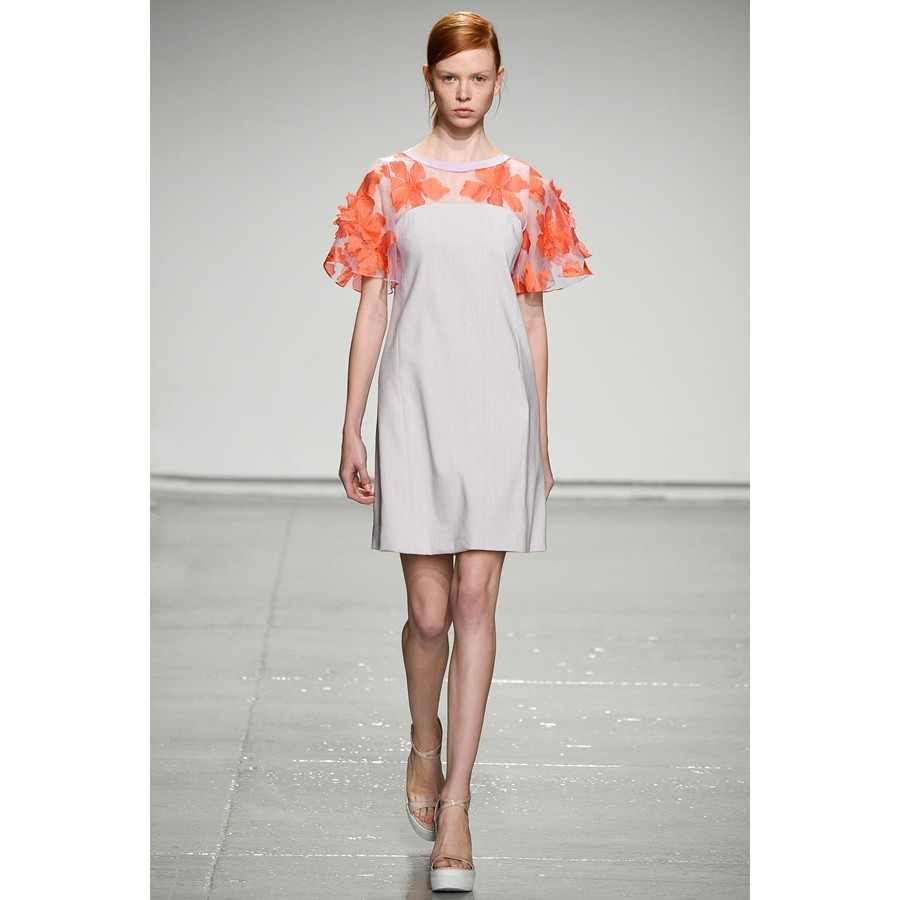 Rebecca taylor printed flutter-sleeve maxi dress