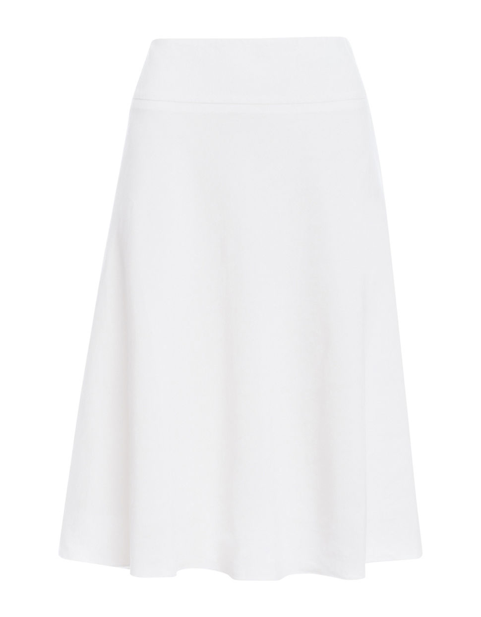 Nic zoe Flared Midi Skirt in White | Lyst