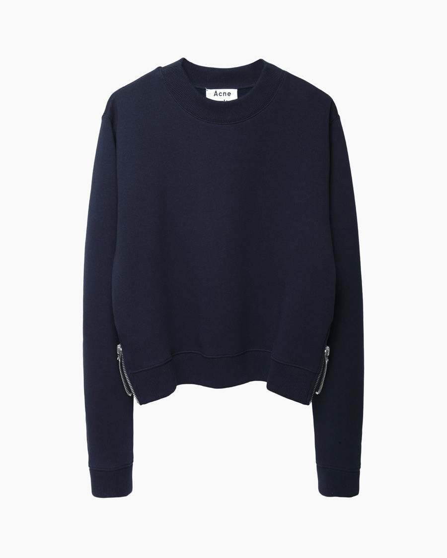 acne studios bird fleece cropped pullover in blue lyst. Black Bedroom Furniture Sets. Home Design Ideas
