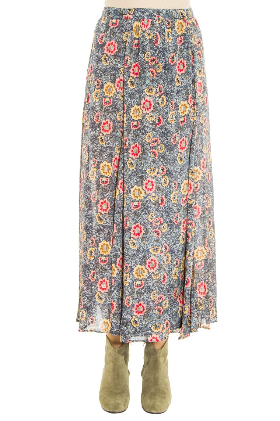 fa241e929 Étoile Isabel Marant Shadow Printed Georgette Wrap Maxi Skirt - Lyst