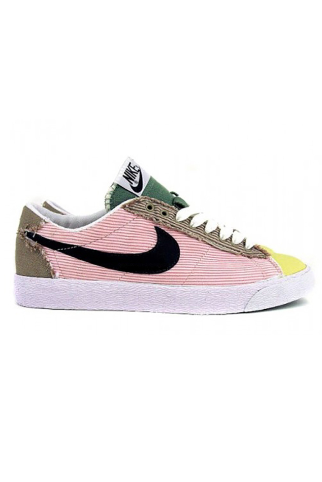 Lyst - Nike Wmns Blazer Low Classic Carnation Black Khaki Green In Pink