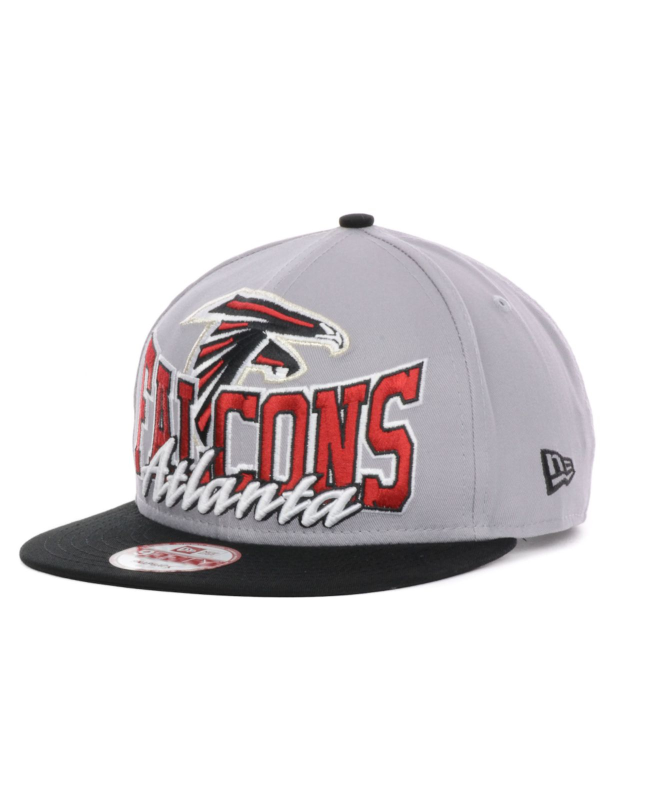 cheap for discount e7a80 d009d ... authentic lyst ktz atlanta falcons nfl gray out and up 9fifty snapback  cap 1d239 80c6a