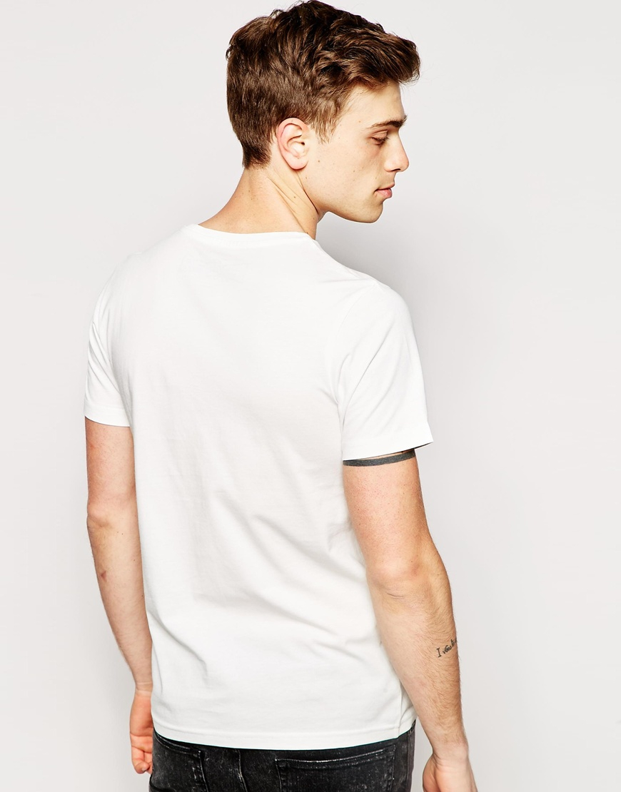 lyst jack jones t shirt with miami print in white for men. Black Bedroom Furniture Sets. Home Design Ideas