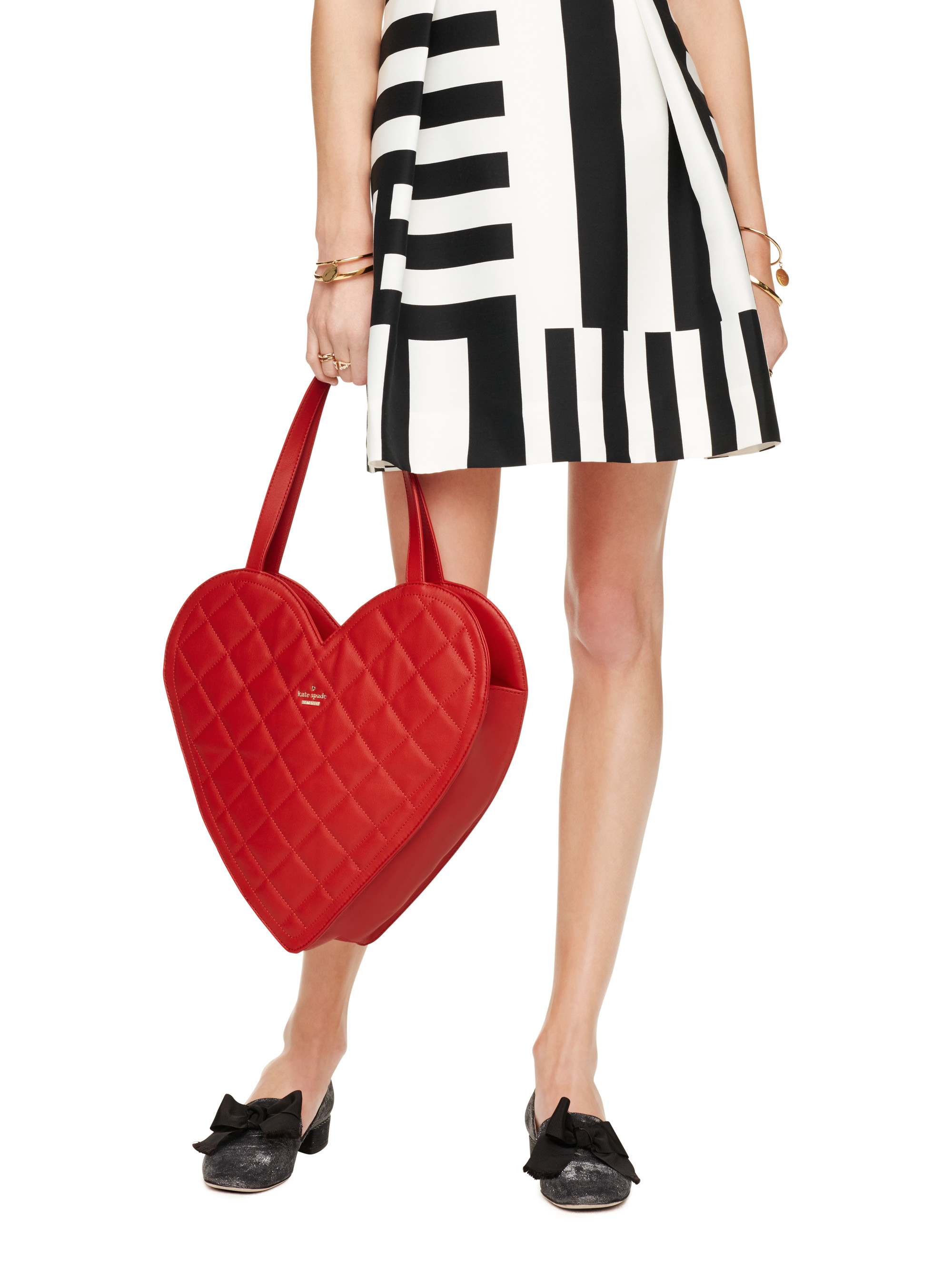 Kate Spade New York Secret Admirer Quilted Heart Tote In