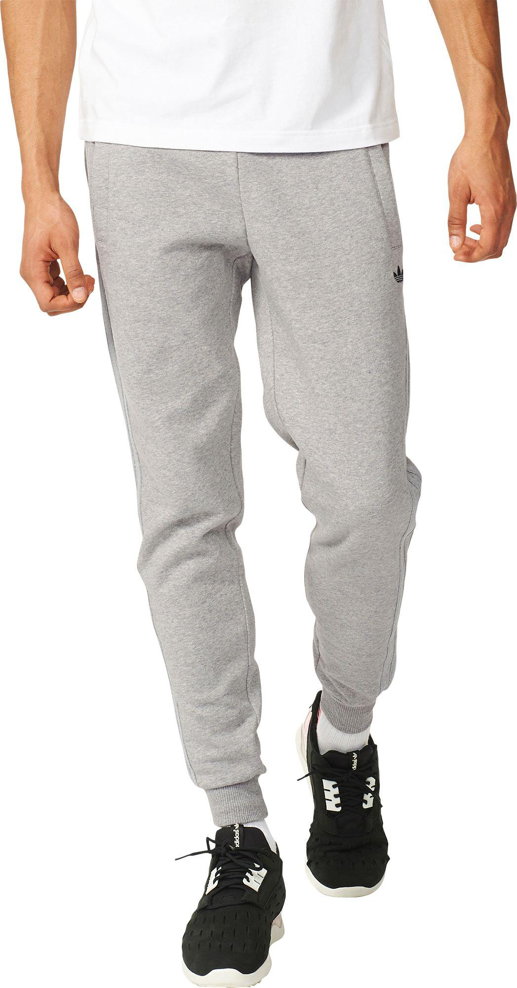 Lyst - adidas Originals Classic Trefoil Cuffed Sweatpants in Gray ... e0aae51656