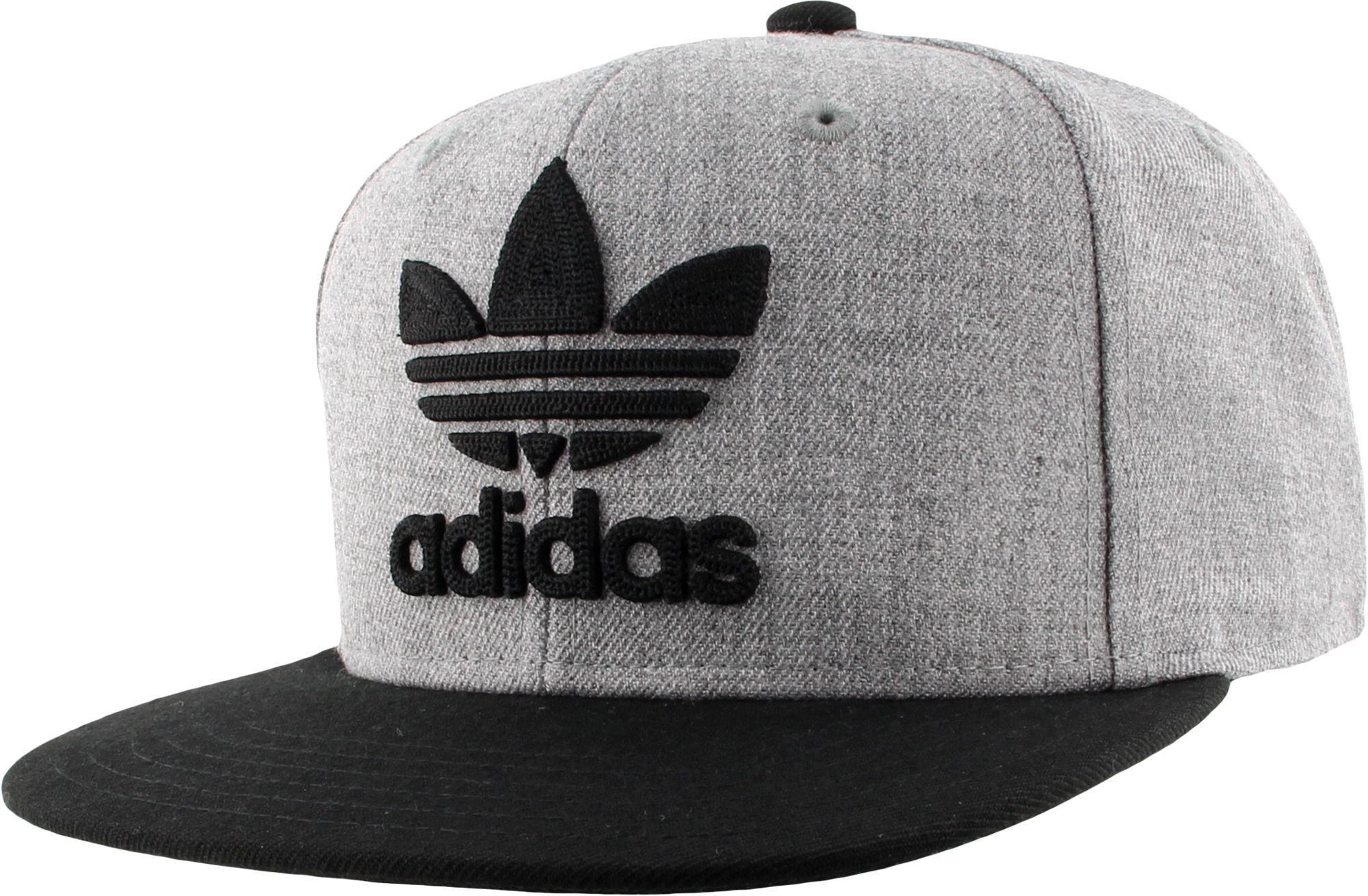 3e1c9e370fff43 ... purchase adidas. mens gray originals trefoil chain snapback hat 469c3  83813