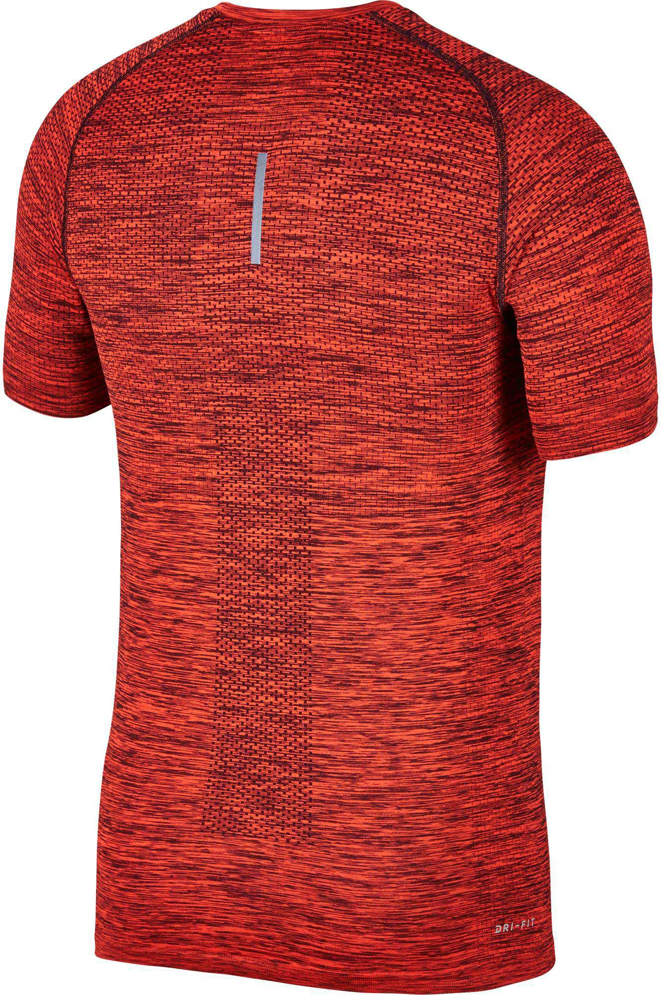 12dd55aab0fc Lyst - Nike Dry Knit Short Sleeve Printed Running Shirt in Red for Men