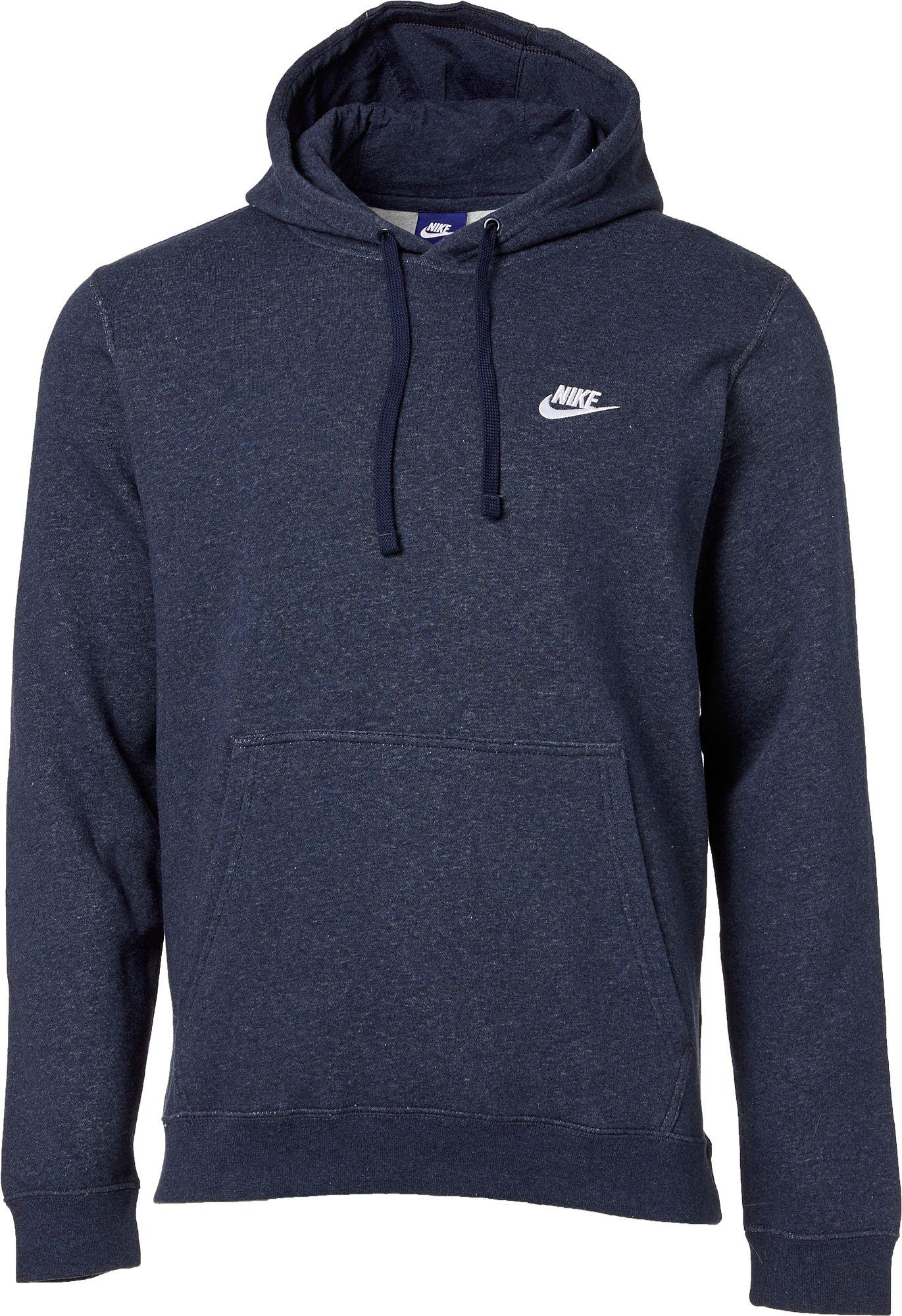 569460b2c7c3 Lyst - Nike Club Fleece Pullover Hoodie in Blue for Men