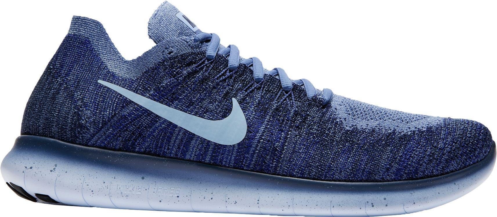 8f805ee6ce77 Lyst - Nike Free Rn Flyknit 2017 Running Shoes in Blue for Men
