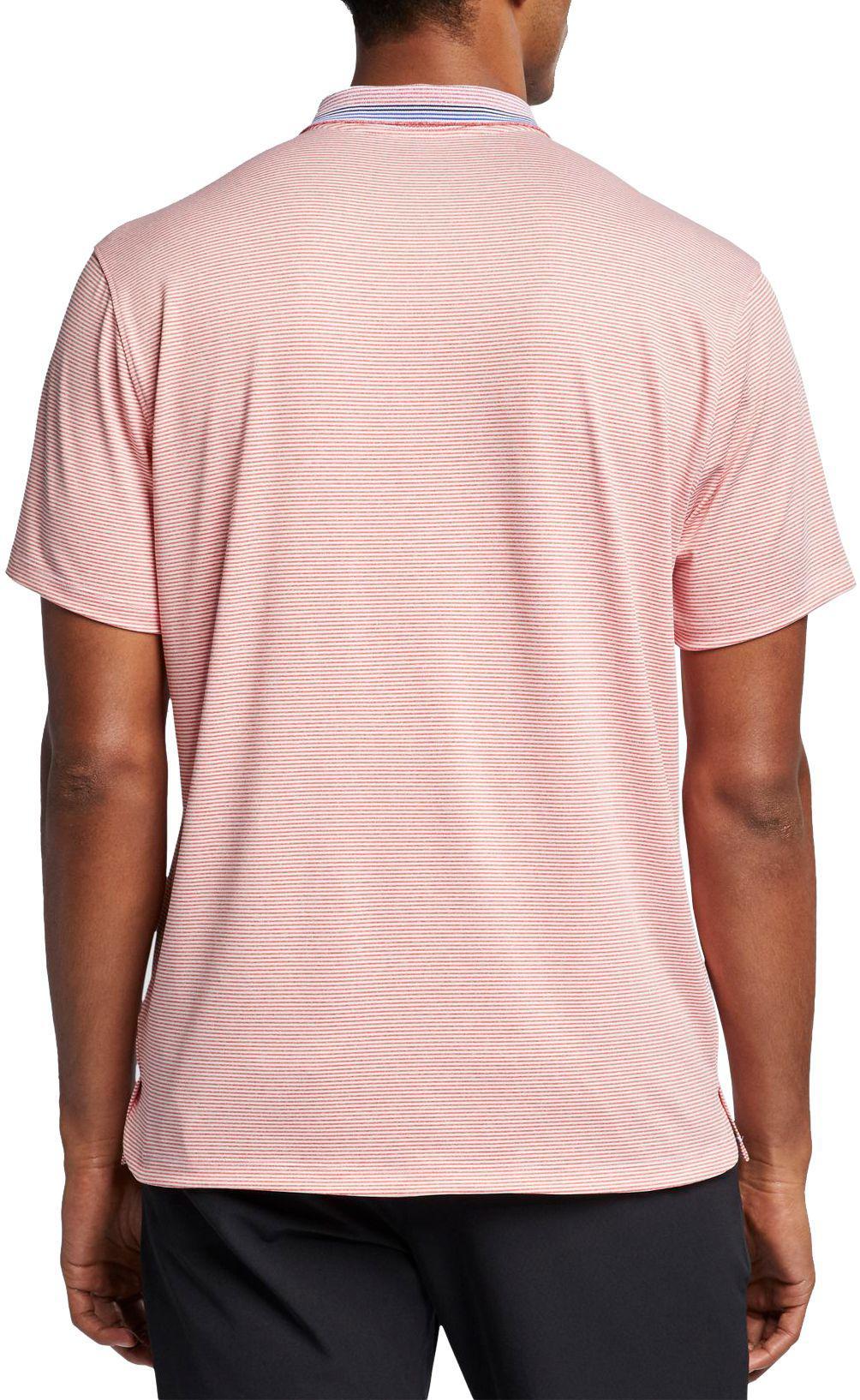 c48a56cdd Nike - Pink Vapor Control Stripe Golf Polo for Men - Lyst. View fullscreen