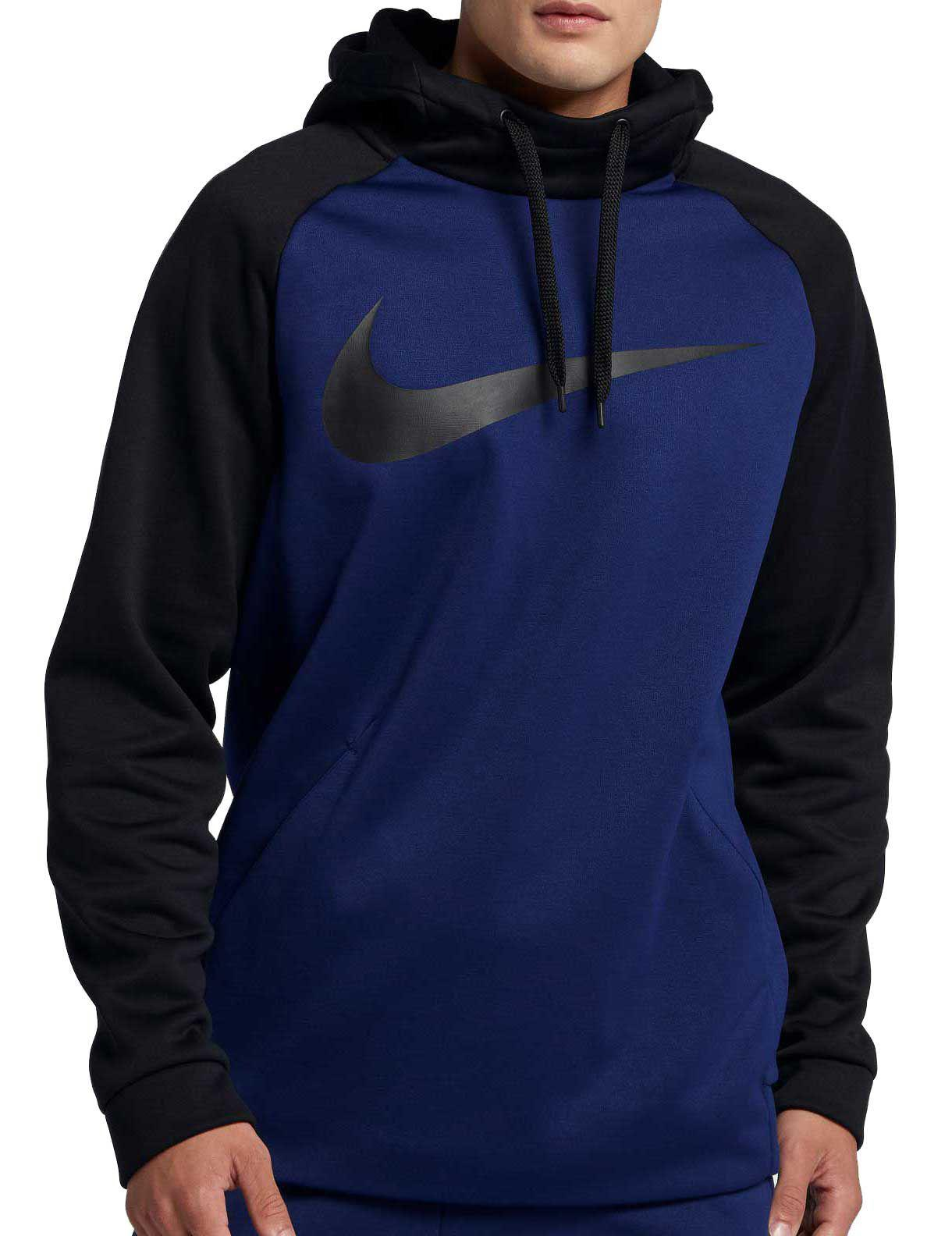 4bd7cc0c6e Nike Therma Swoosh Essential Hoodie in Blue for Men - Lyst