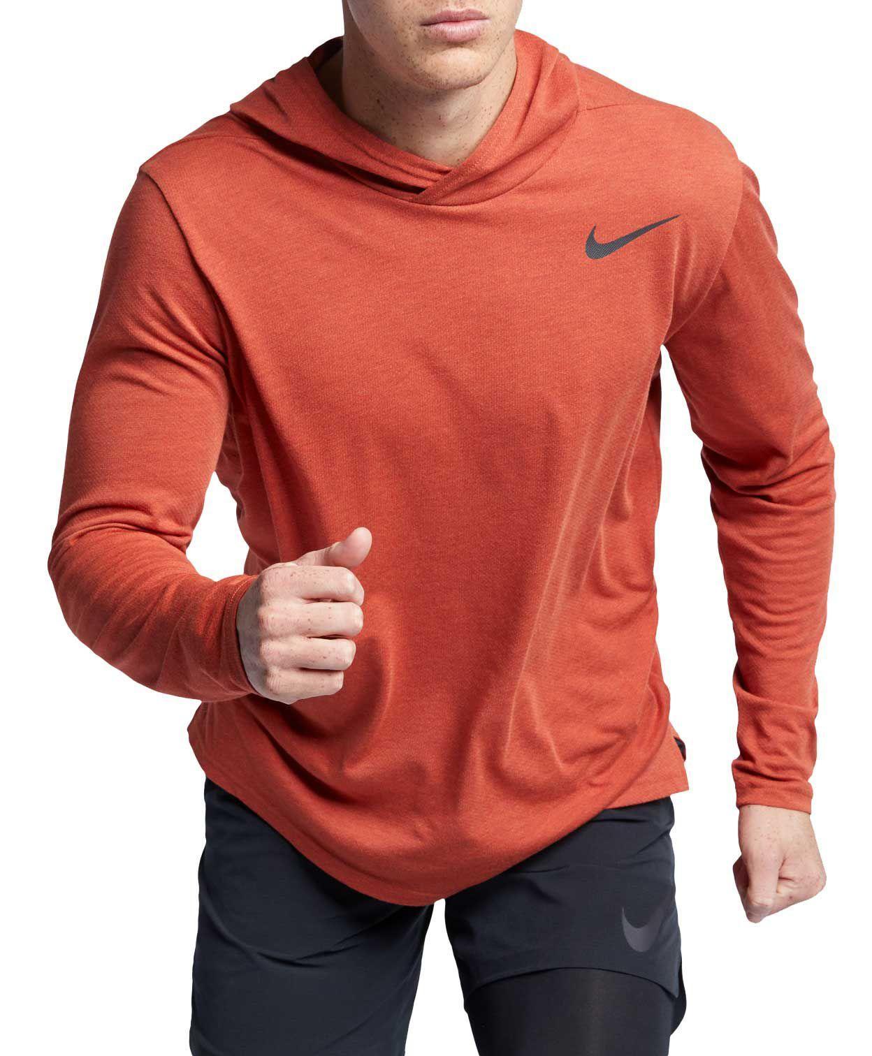 211723ba Nike Hyper Dry Hooded Long Sleeve Tee in Red for Men - Lyst