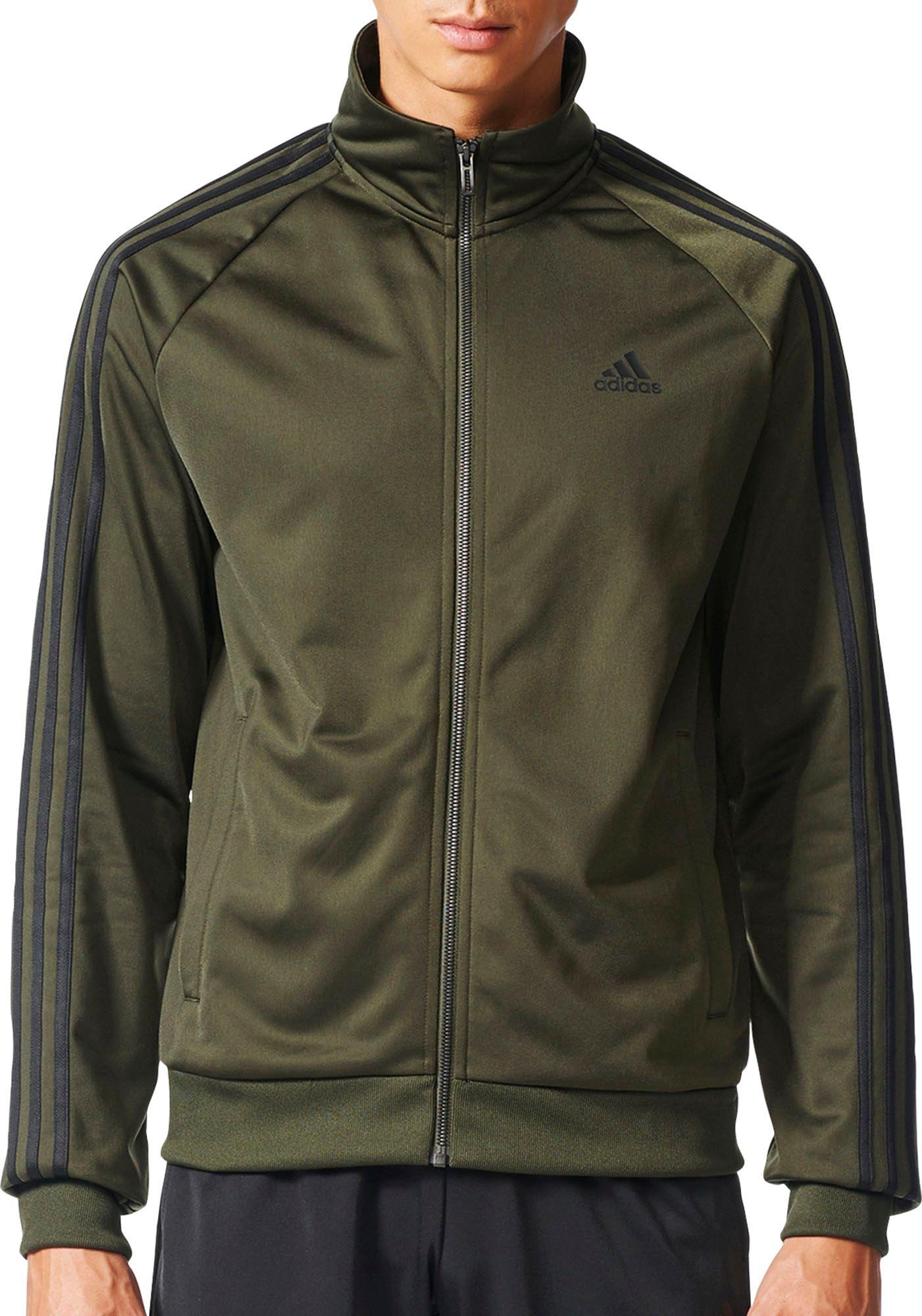 537377732193 Lyst - adidas Essentials 3-stripes Track Jacket in Green for Men