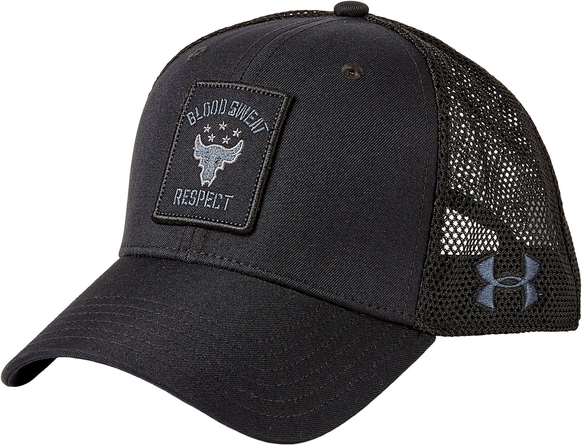 3e9a054ce93 Lyst - Under Armour Project Rock Trucker Hat in Black for Men