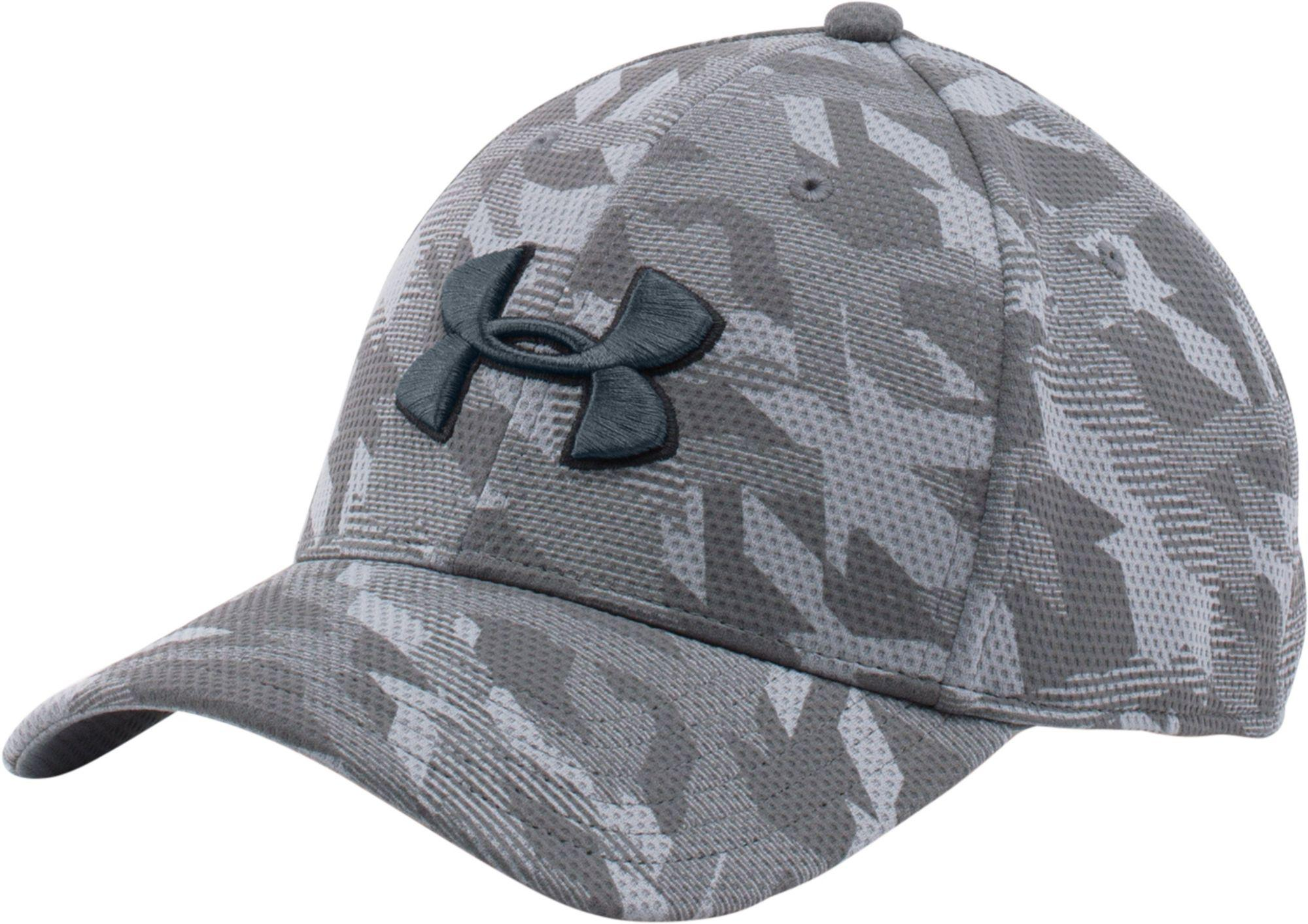 b1a0fc63dd3 Lyst - Under Armour Printed Blitzing Stretch Fit Hat in Gray for Men