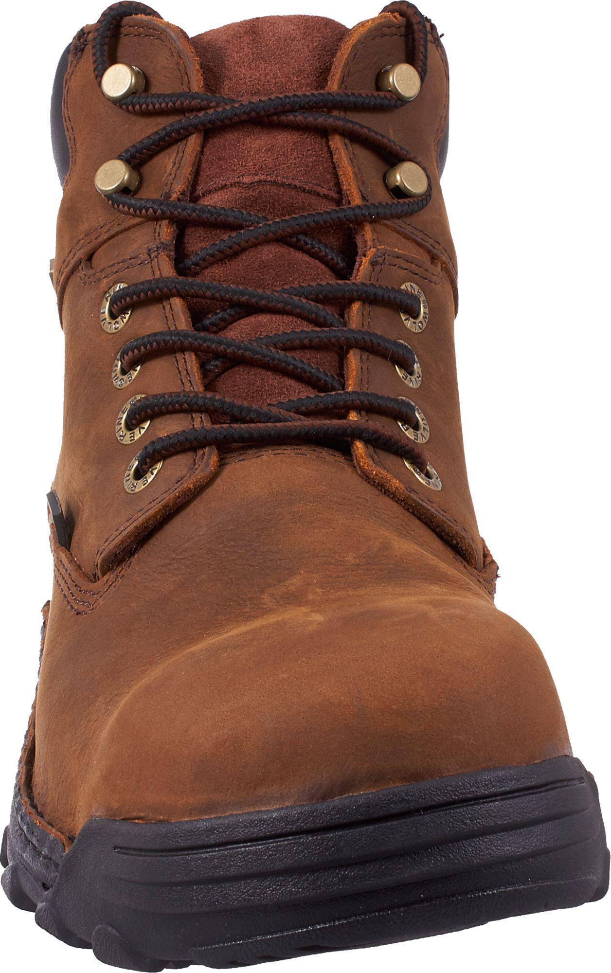 04f6dc0c05d Men's Brown Durbin 6'' Waterproof Steel Toe Work Boots