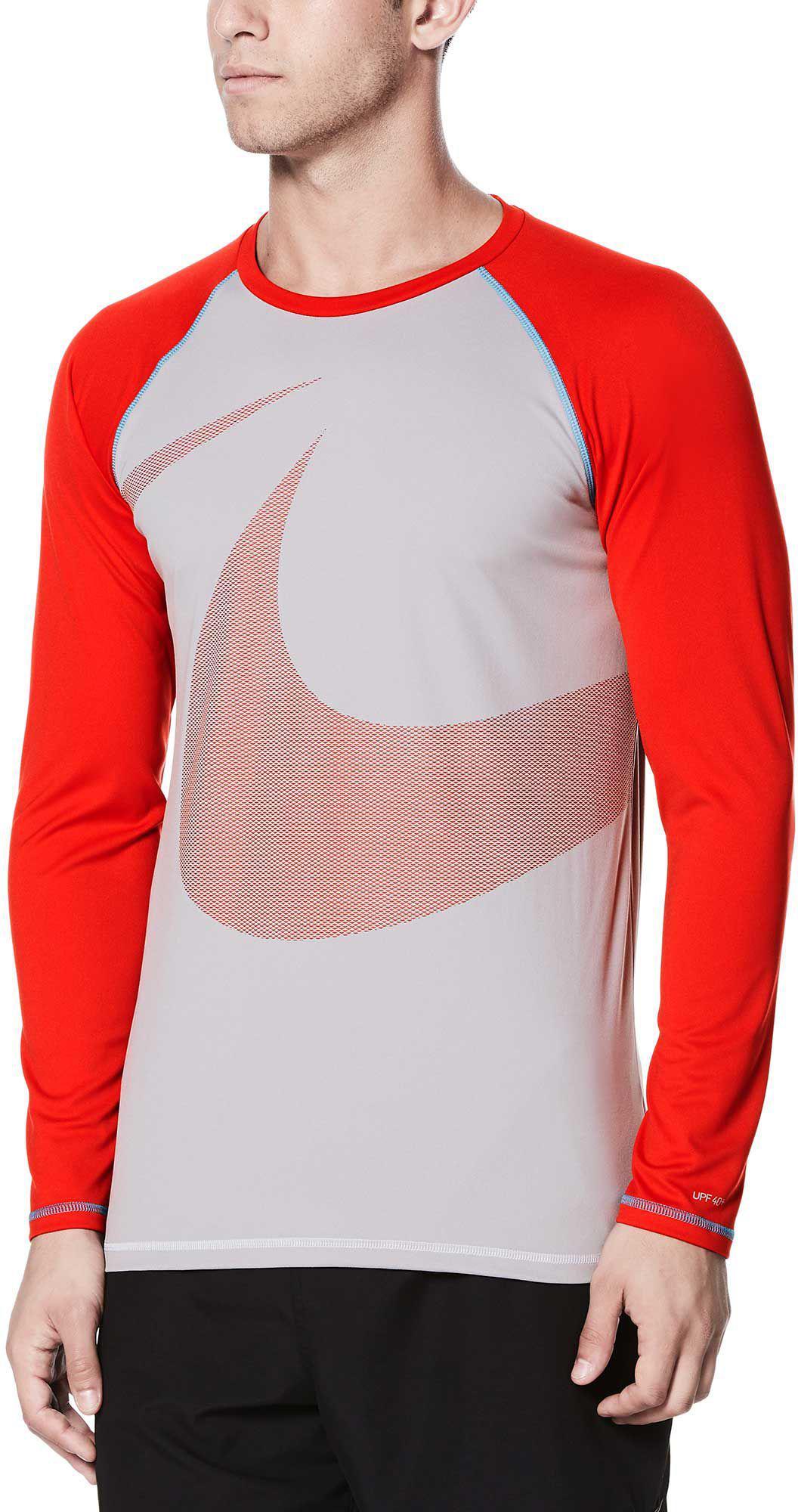 1559f640 Lyst - Nike Macro Swoosh Long Sleeve Hydro Rash Guard for Men