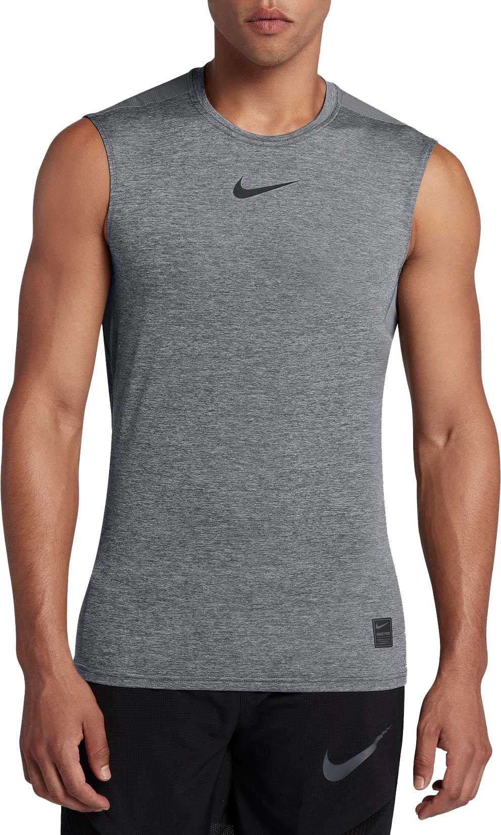 fc0d19a988189 Lyst - Nike Pro Fitted Sleeveless Shirt in Black for Men