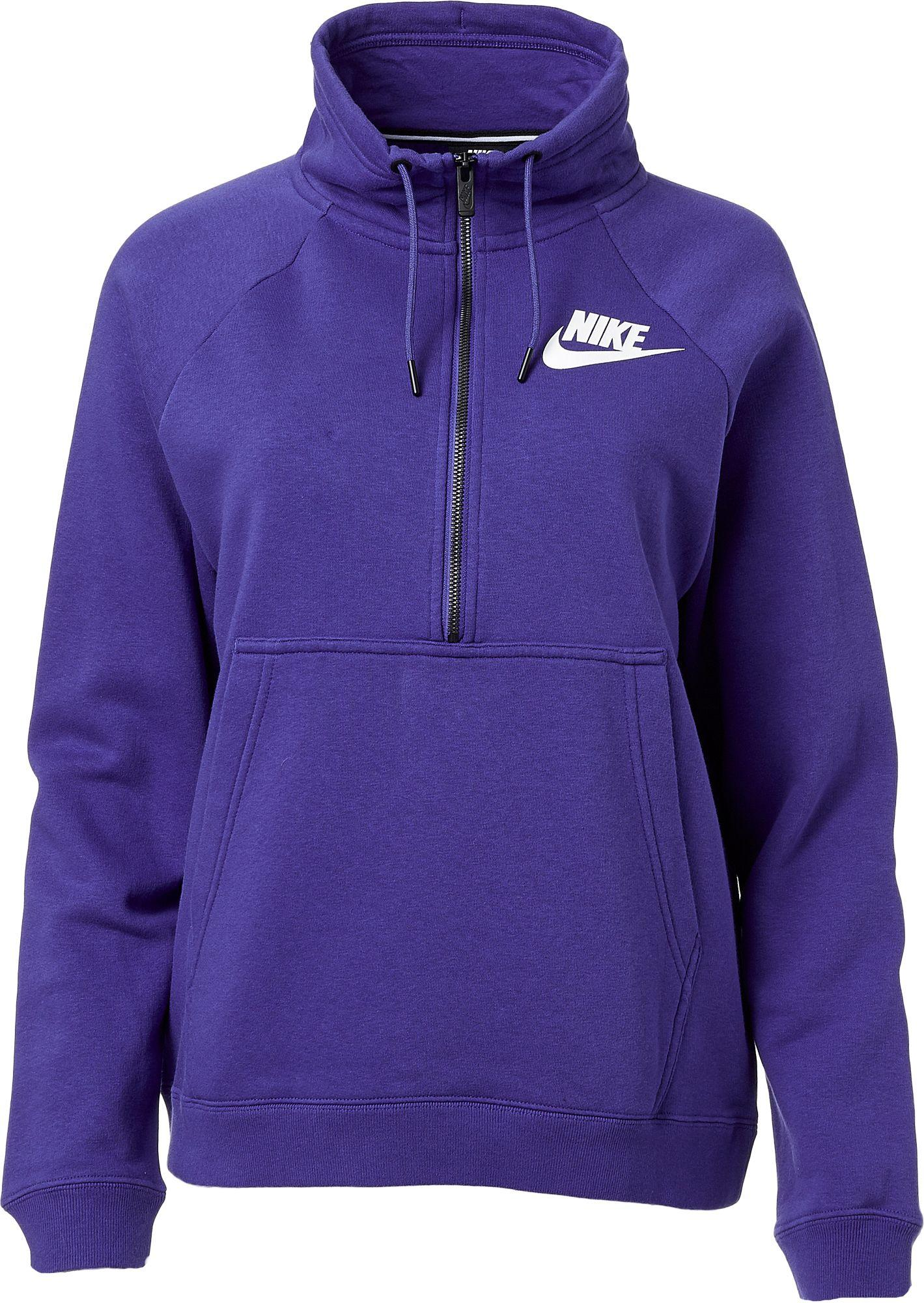 edab3ee822d2 Lyst - Nike Sportswear Rally Half-zip Sweatshirt in Purple