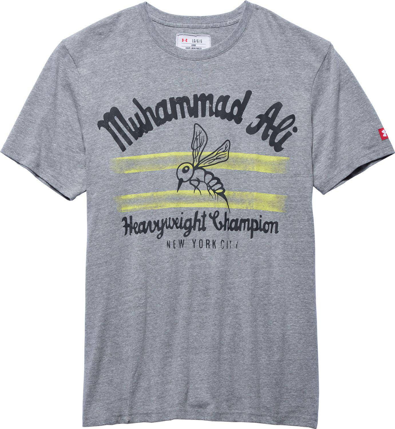 d4064910 Under Armour Roots Of Fight Muhammad Ali Bee Graphic T-shirt in Gray ...