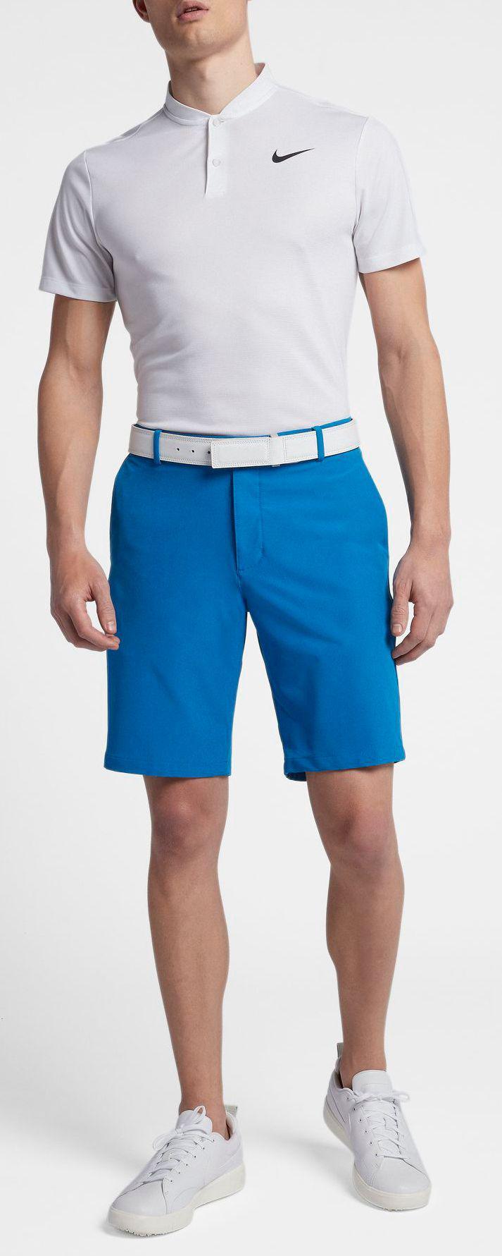 a6b12d82e5e4 Lyst - Nike Solid Slim Fit Flex Golf Shorts in Blue for Men