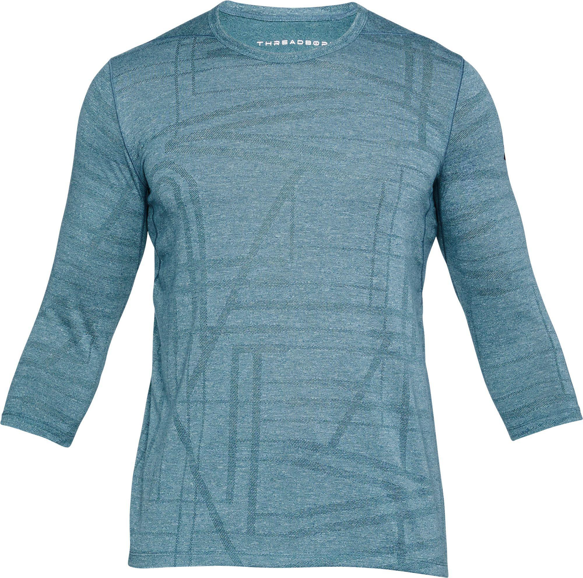 717ce98a5963 Under Armour - Blue Threadborne Siro Utility 3⁄4 Length Sleeve Shirt for Men  -
