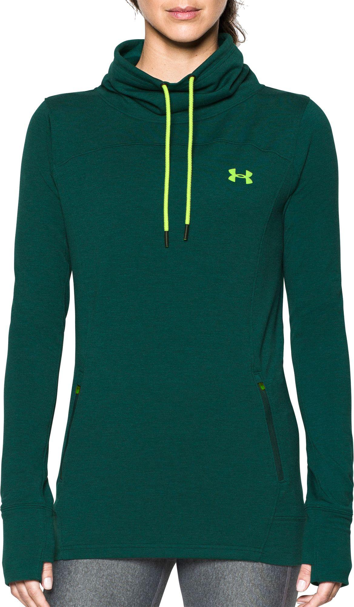 7916350c348c Under Armour - Green Women s Ua Featherweight Fleece Slouchy Popover - Lyst