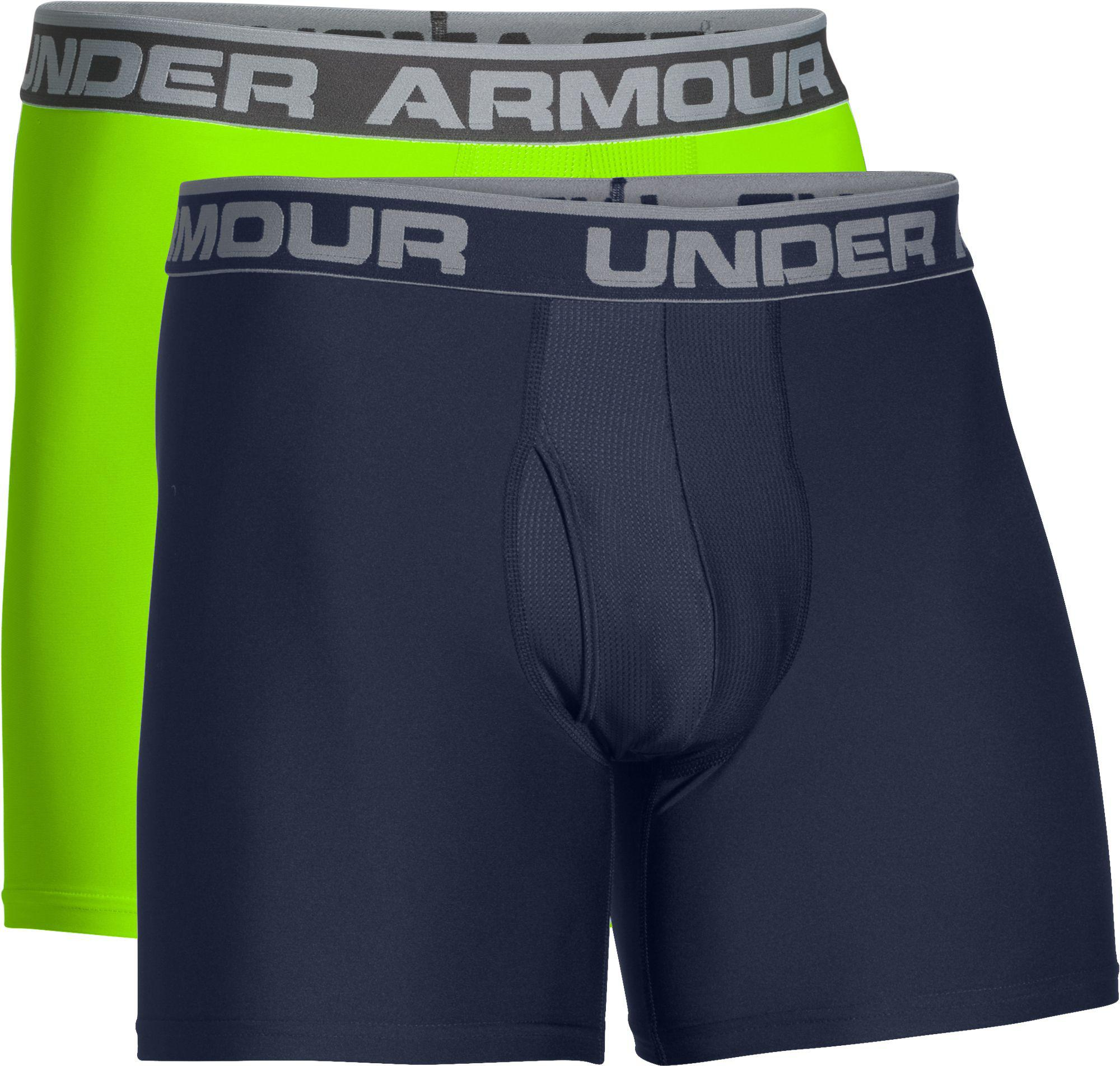 ae9b8427b34 Under Armour O Series 6'' Boxerjock Boxer Briefs 2 Pack in Blue for ...