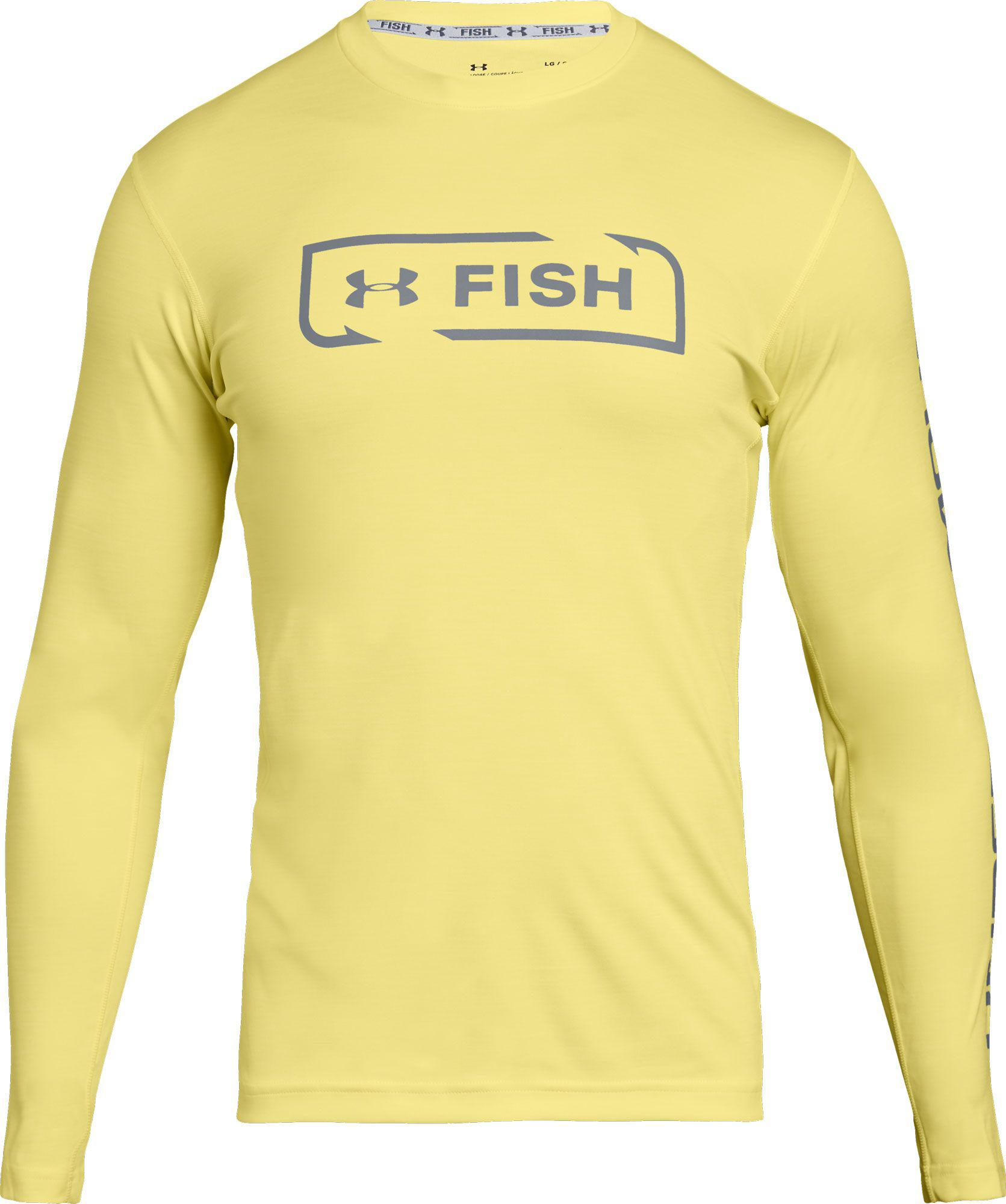 c7d304f4f Under Armour Fish Hunter Icon Long Sleeve Shirt in Yellow for Men - Lyst