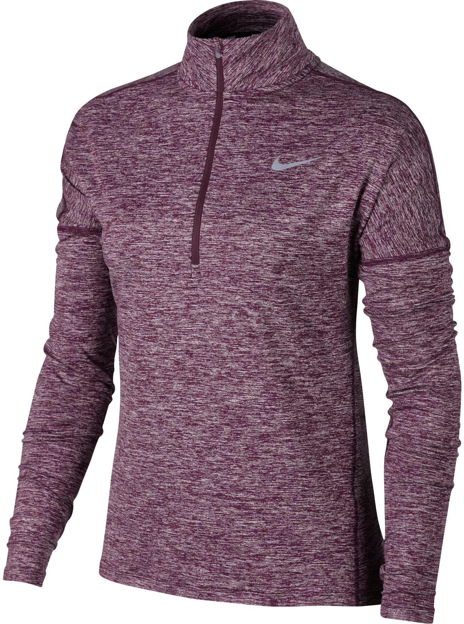 aaa02bf1 Nike Dry Element Half Zip Long Sleeve Running Shirt in Purple - Lyst
