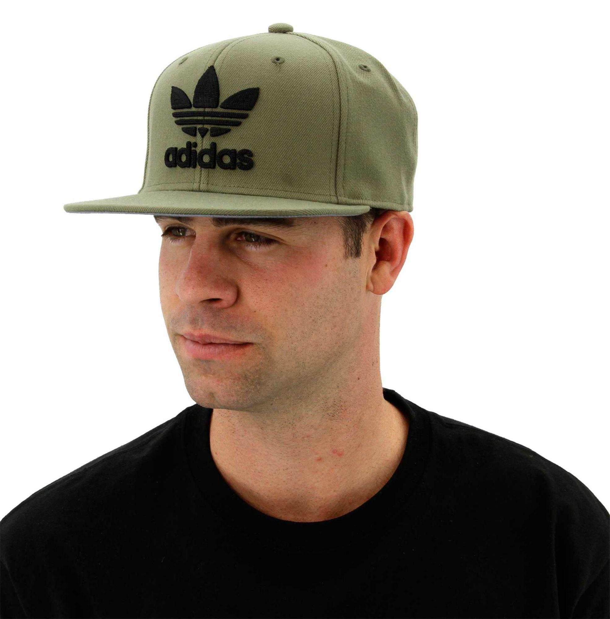 21cdc8b8 ... canada lyst adidas originals trefoil chain snapback hat in green for men  534d4 c57f7