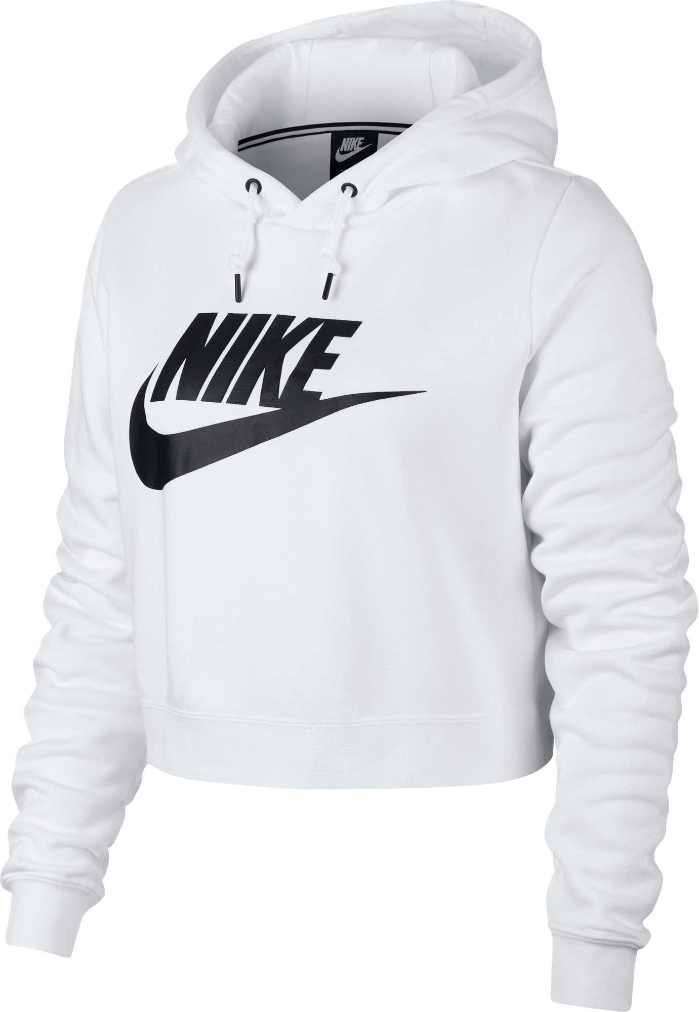 15514401bff7 Lyst - Nike Sportswear Rally Cropped Hoodie in White