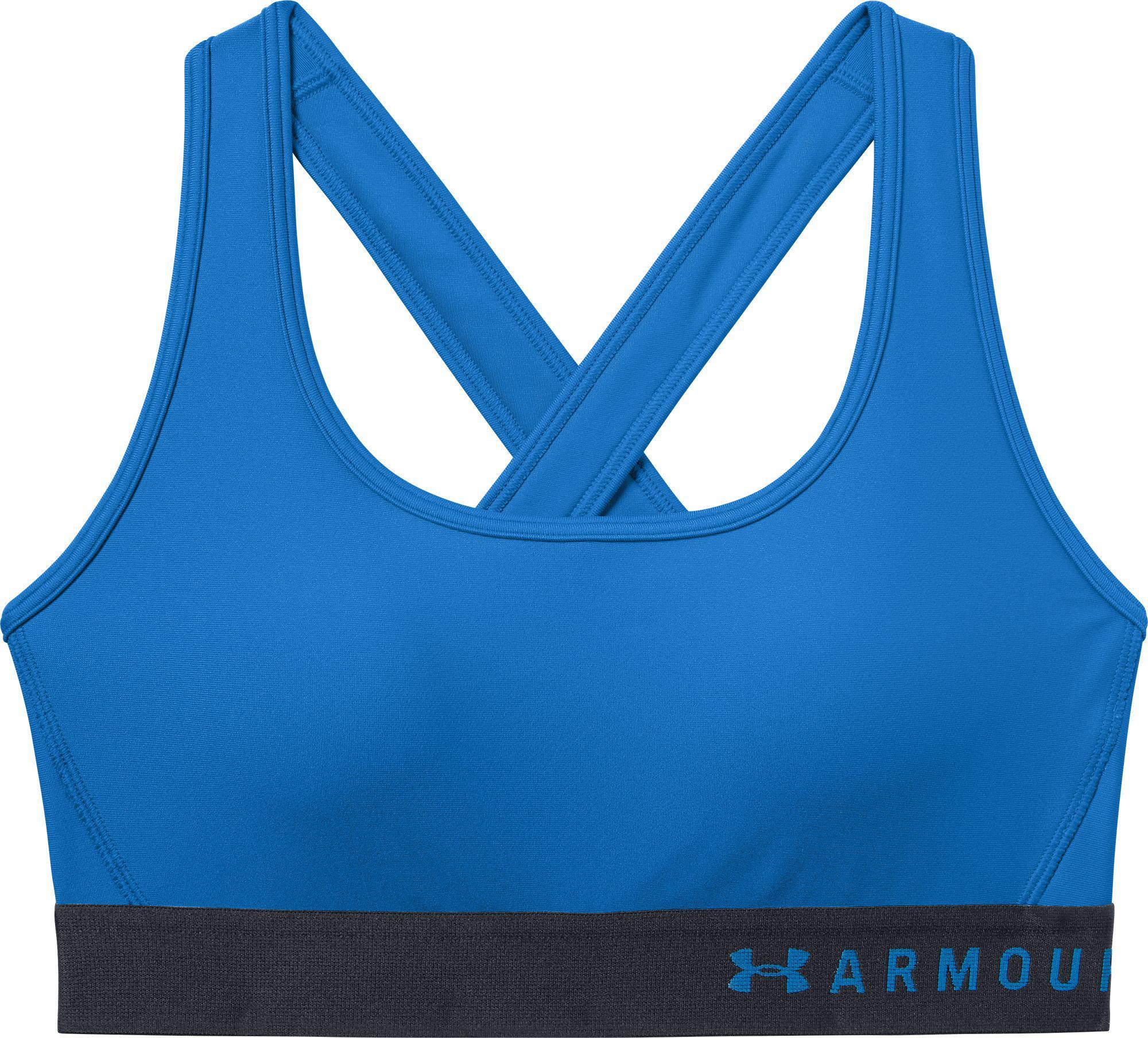 46766aeea4 Lyst - Under Armour Armour Medium Impact Crossback Sports Bra in Blue