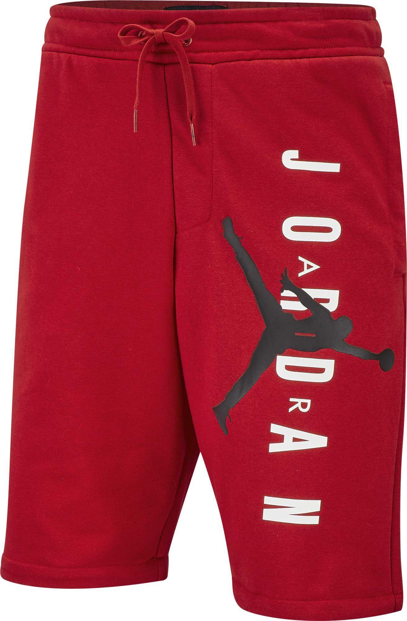4e638212c0d1 Nike - Red Jordan Jumpman Air Fleece Shorts for Men - Lyst. View fullscreen