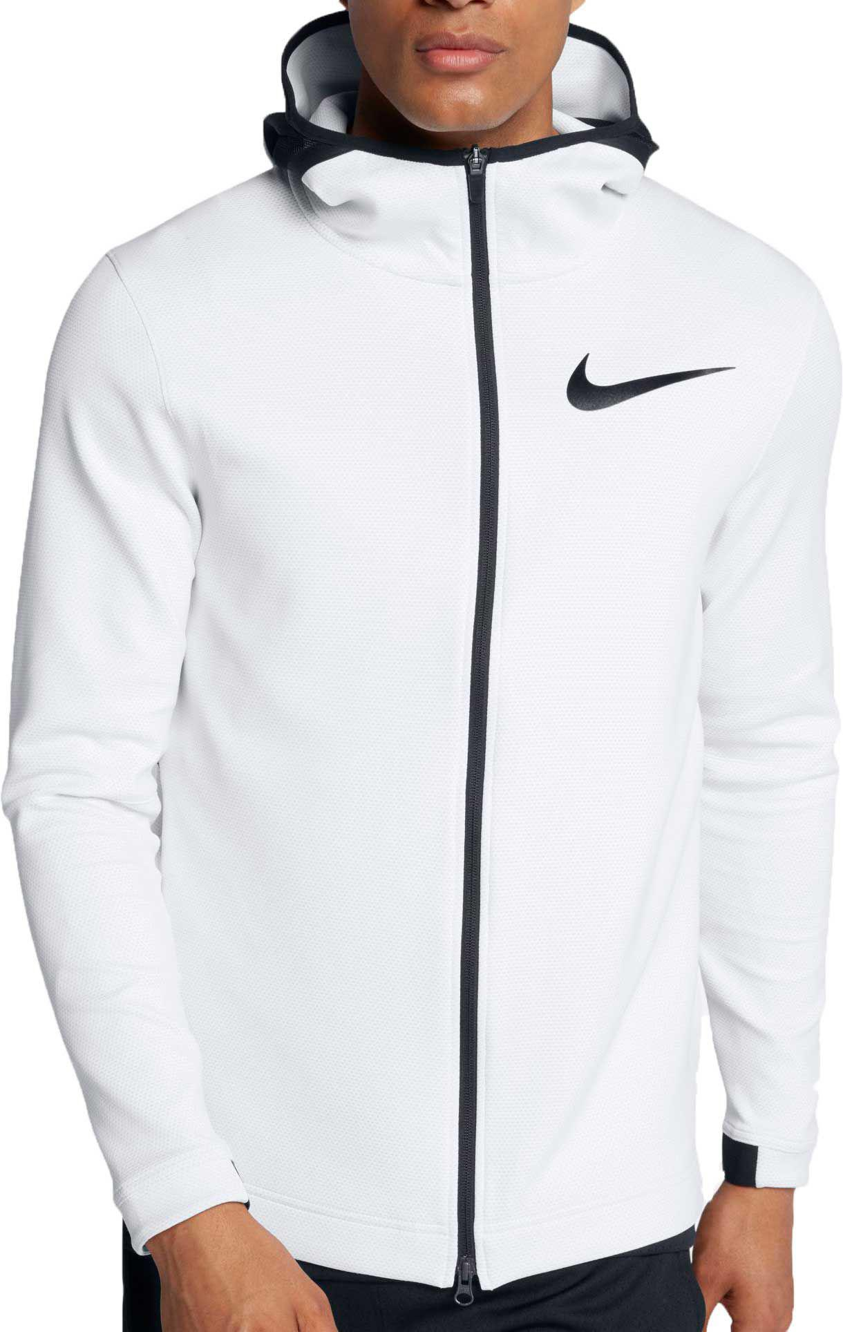 55075998d8a Nike - White Therma Flex Showtime Full Zip Basketball Hoodie for Men - Lyst