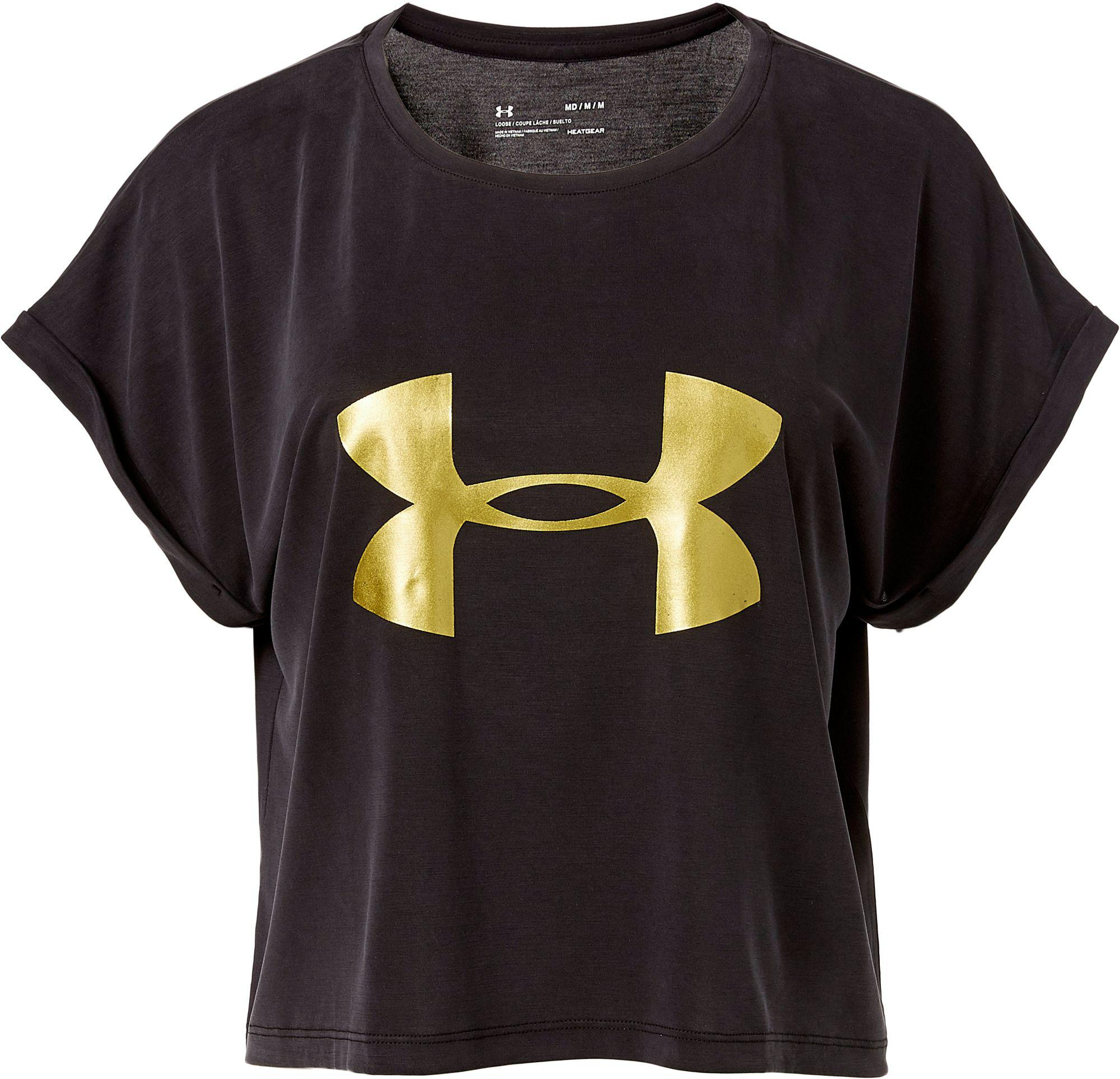 lyst under armour ig logo graphic t shirt in black
