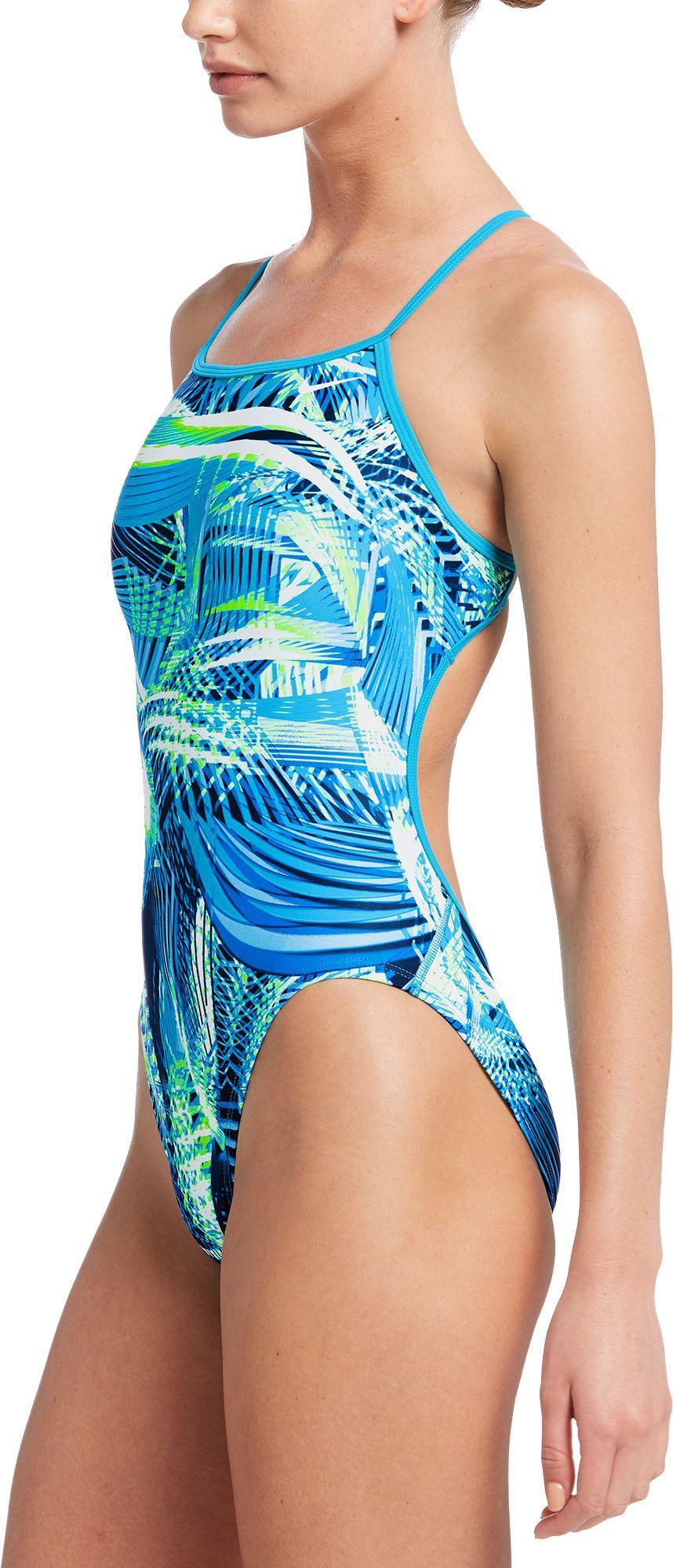 1377ba14c8 Nike - Blue Whirl Modern Cut-out One Piece Swimsuit - Lyst. View fullscreen