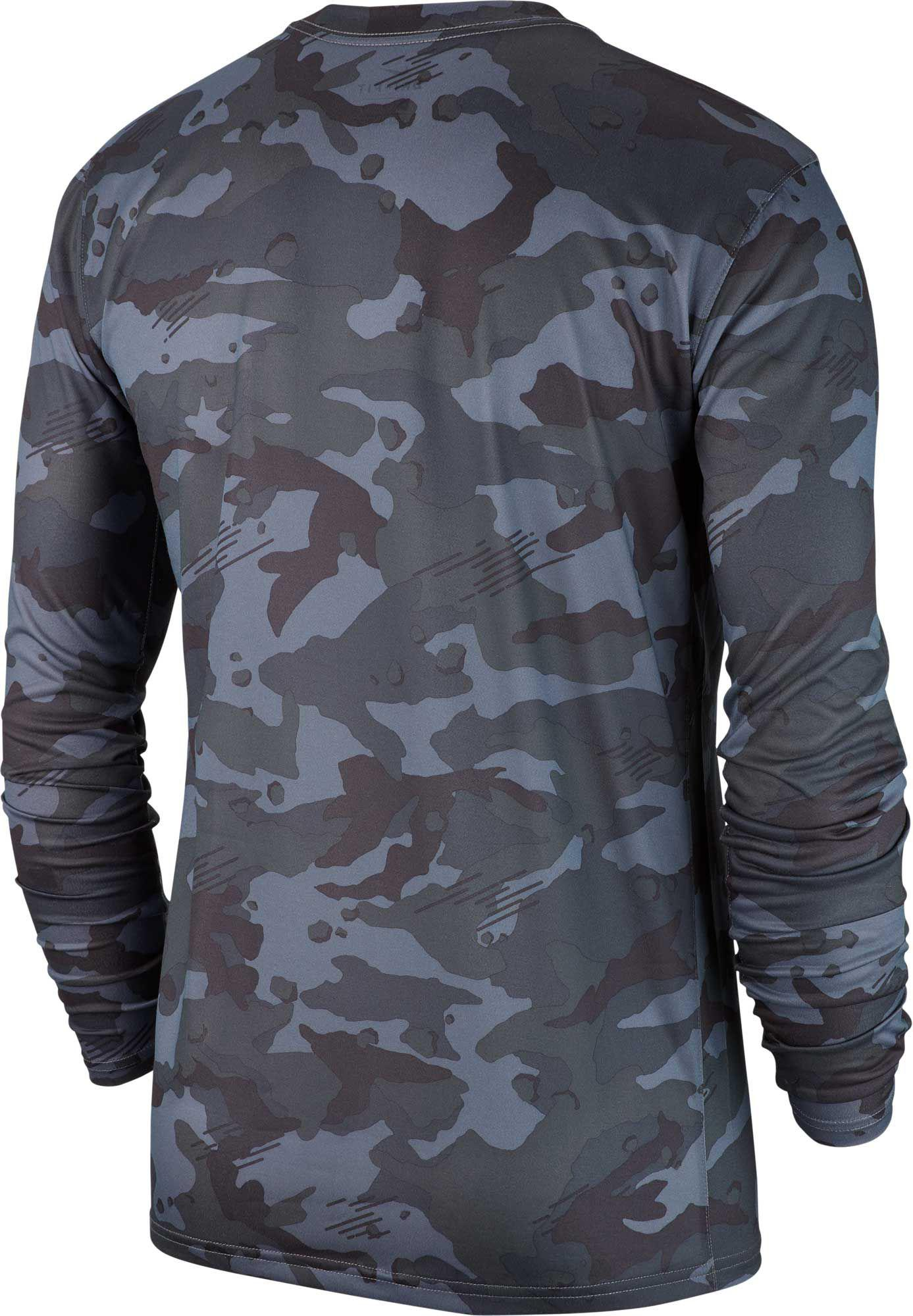 6dab23015 Nike Dry Legend Camo Long Sleeve Tee in Gray for Men - Lyst