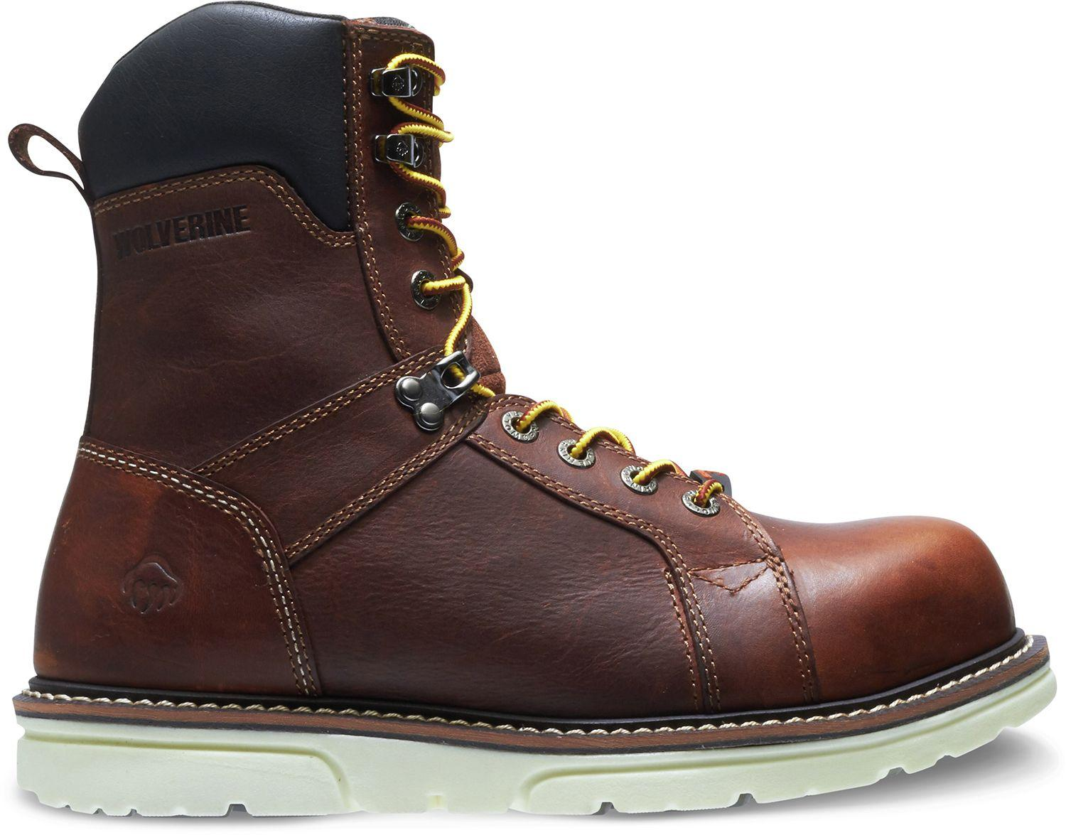 2b7e58e3323 Lyst - Wolverine I-90 Durashocks Wedge 8'' Work Boots in Brown for Men