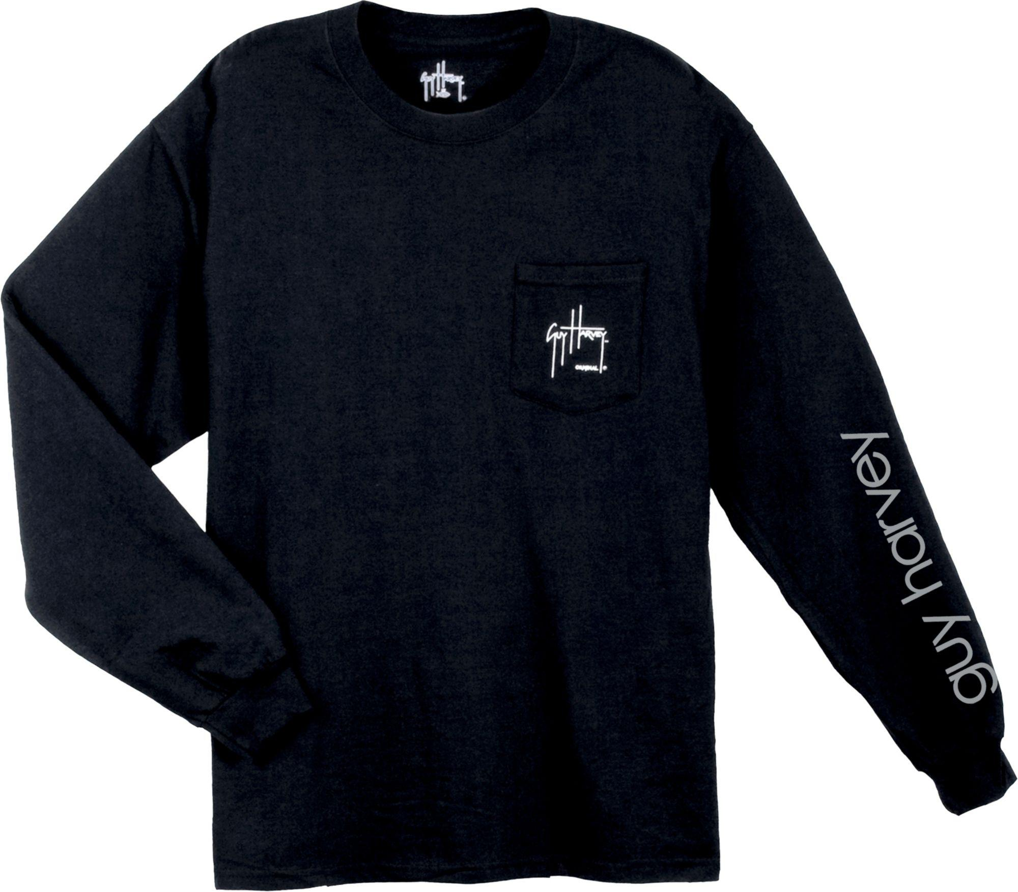 22cee6fe Guy Harvey - Black Woodblock Long Sleeve Shirt for Men - Lyst. View  fullscreen