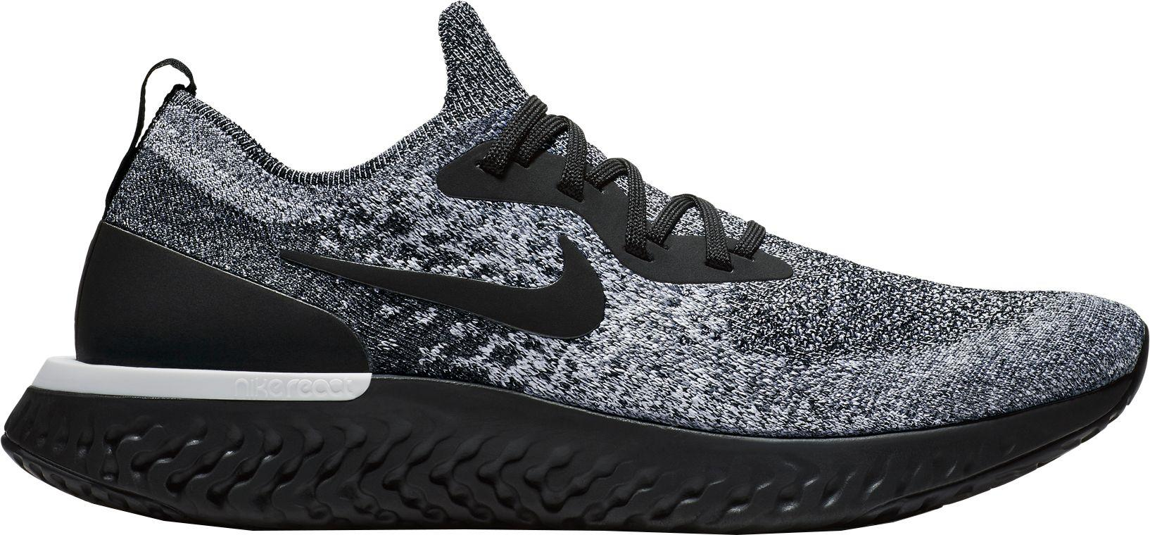 7e85ee7328a8 Lyst - Nike Epic React Flyknit Running Shoes in Black for Men