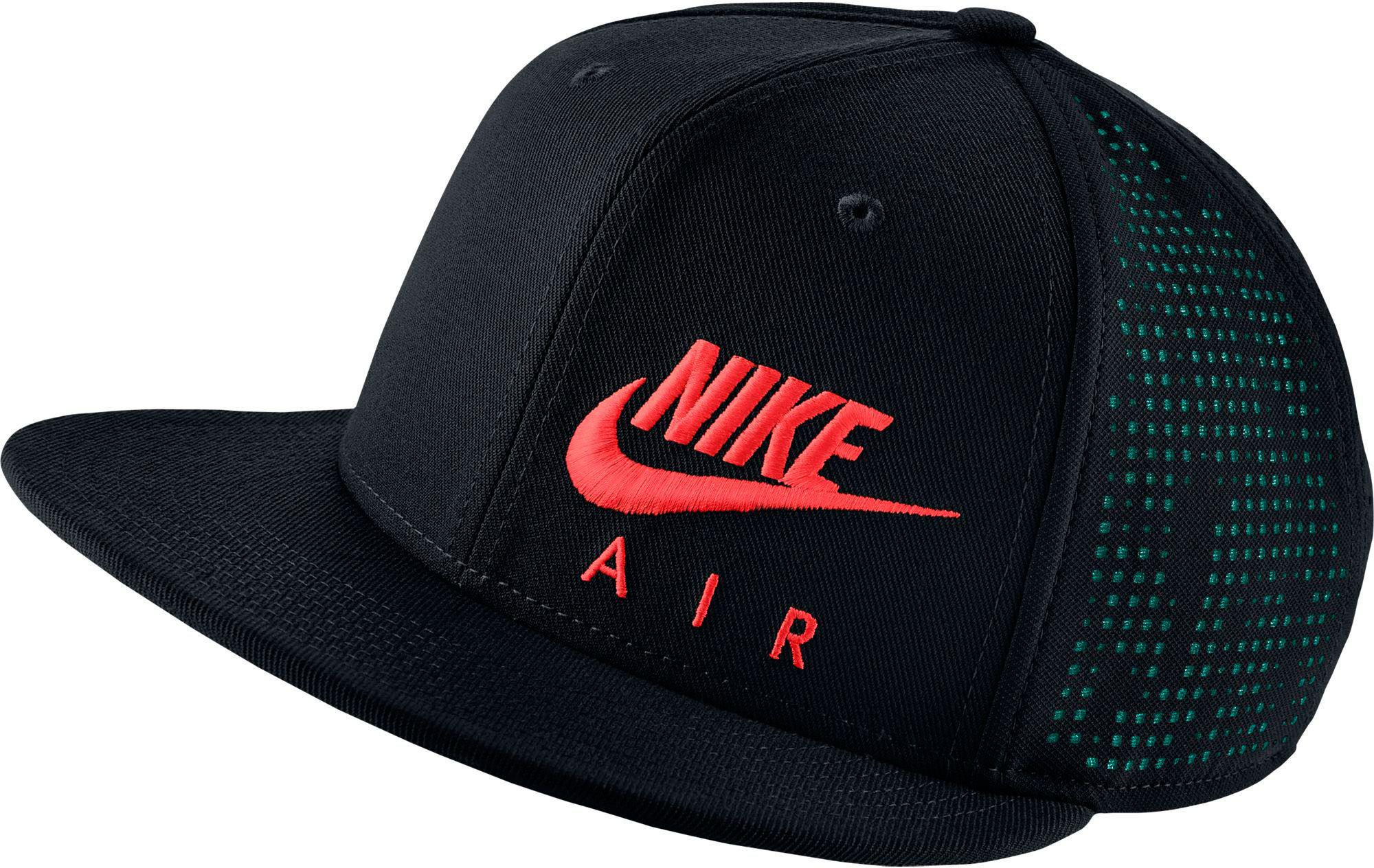 22d97bf0118 ... usa lyst nike air hybrid true adjustable snapback hat in black for men  6becd 5f5f8