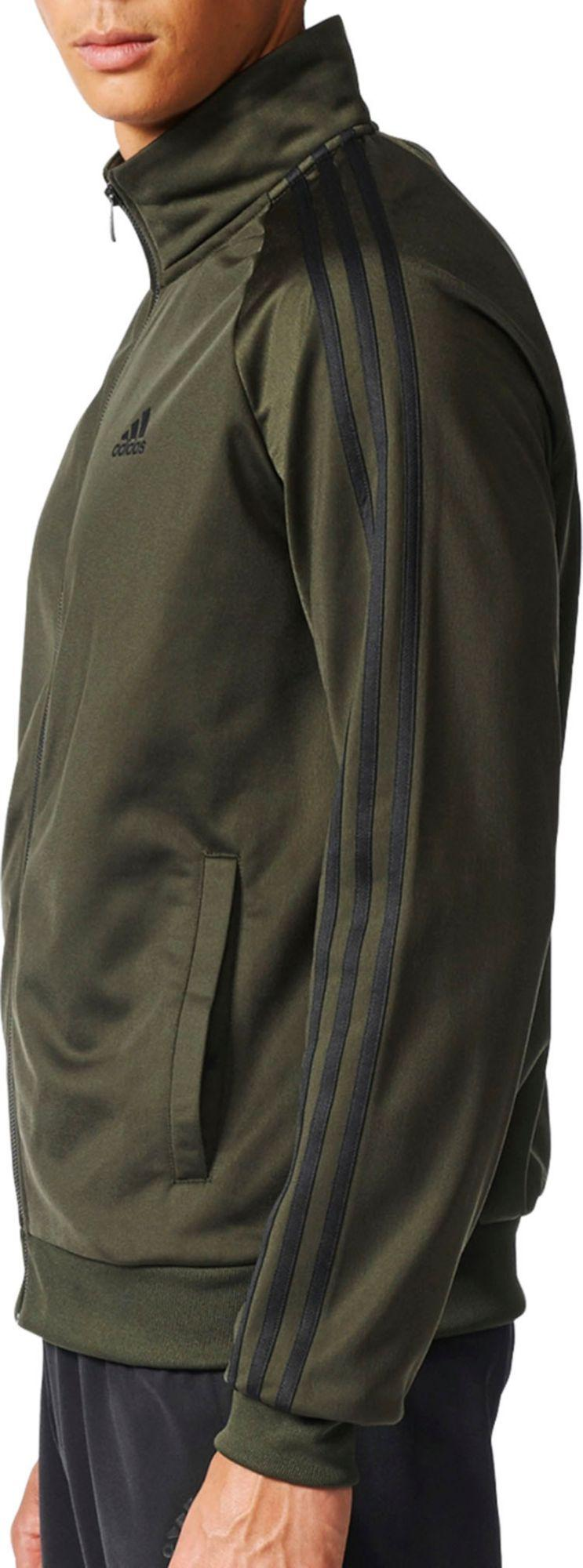 573ede1226a2 Lyst - adidas Essentials 3-stripes Track Jacket in Green for Men