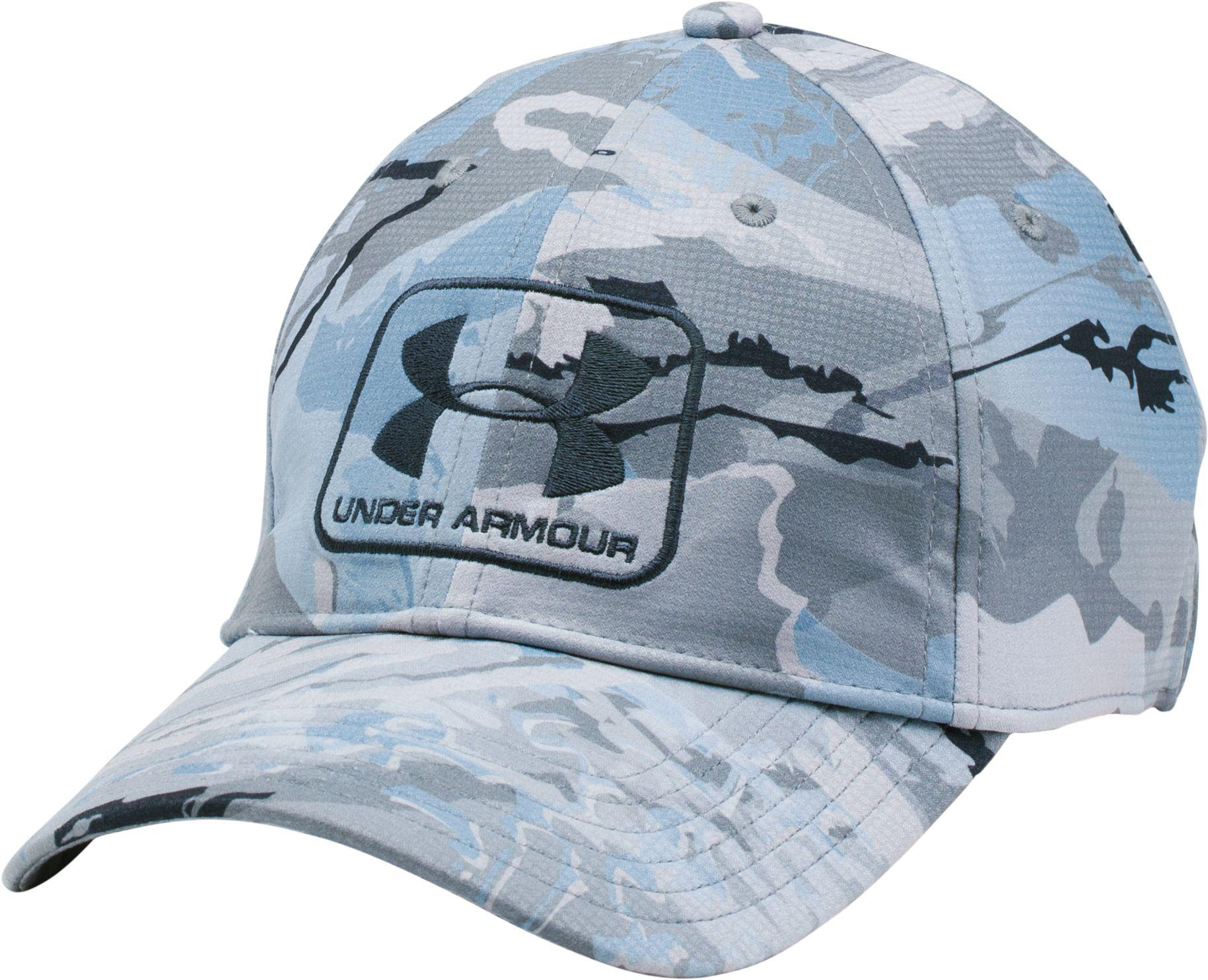Lyst - Under Armour Camo Stretch Fit Hat in Blue for Men 27c8bb39eb2